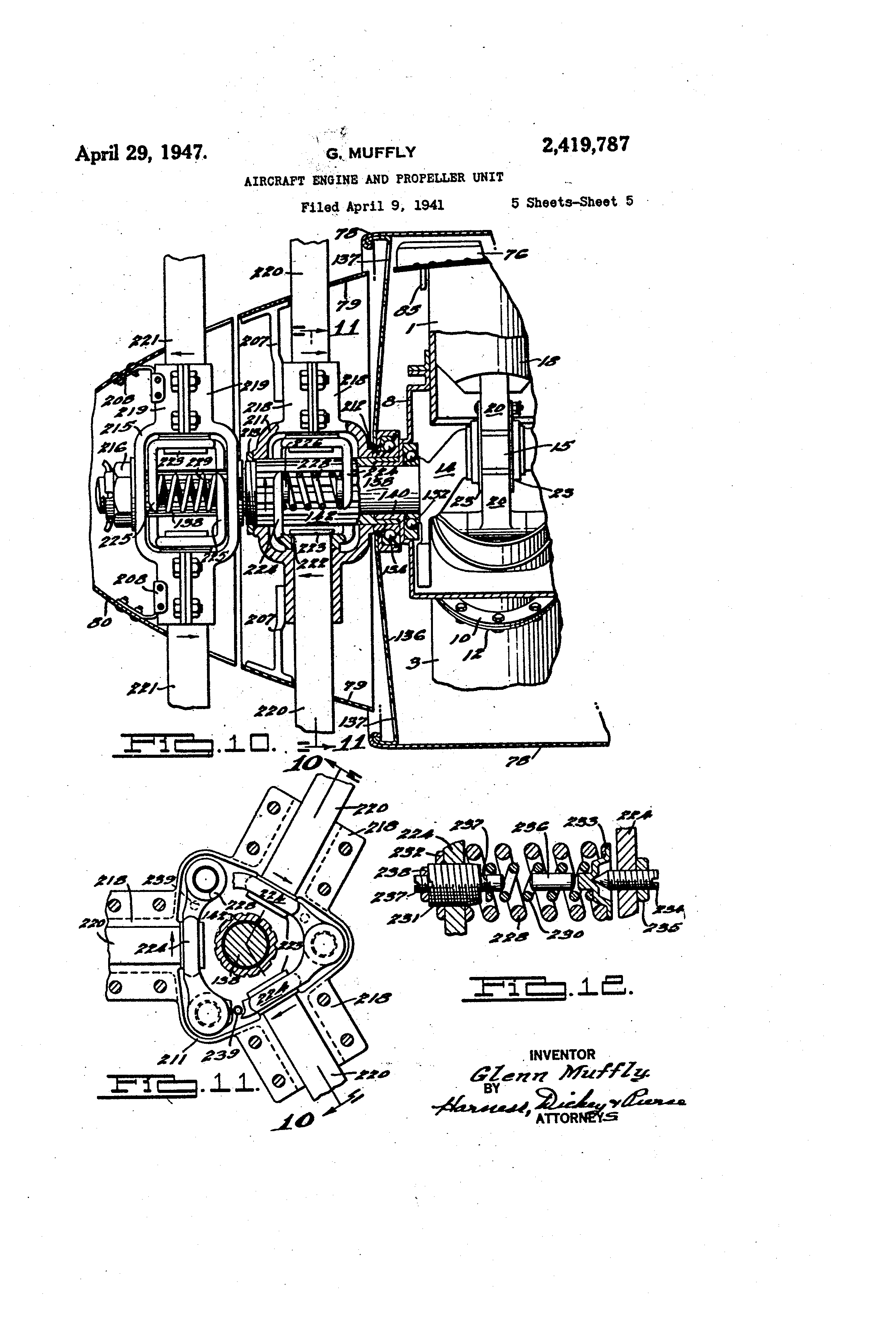 Patent Us2419787 Aircraft Engine And Propeller Unit