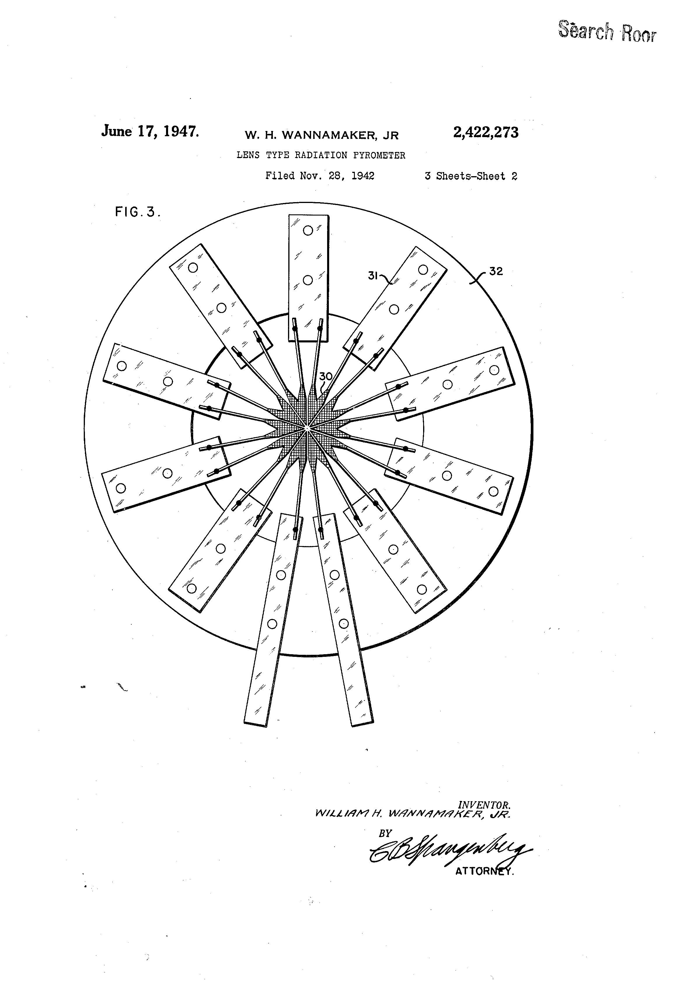patent us2422273 lens type radiation pyrometer google patents patent drawing