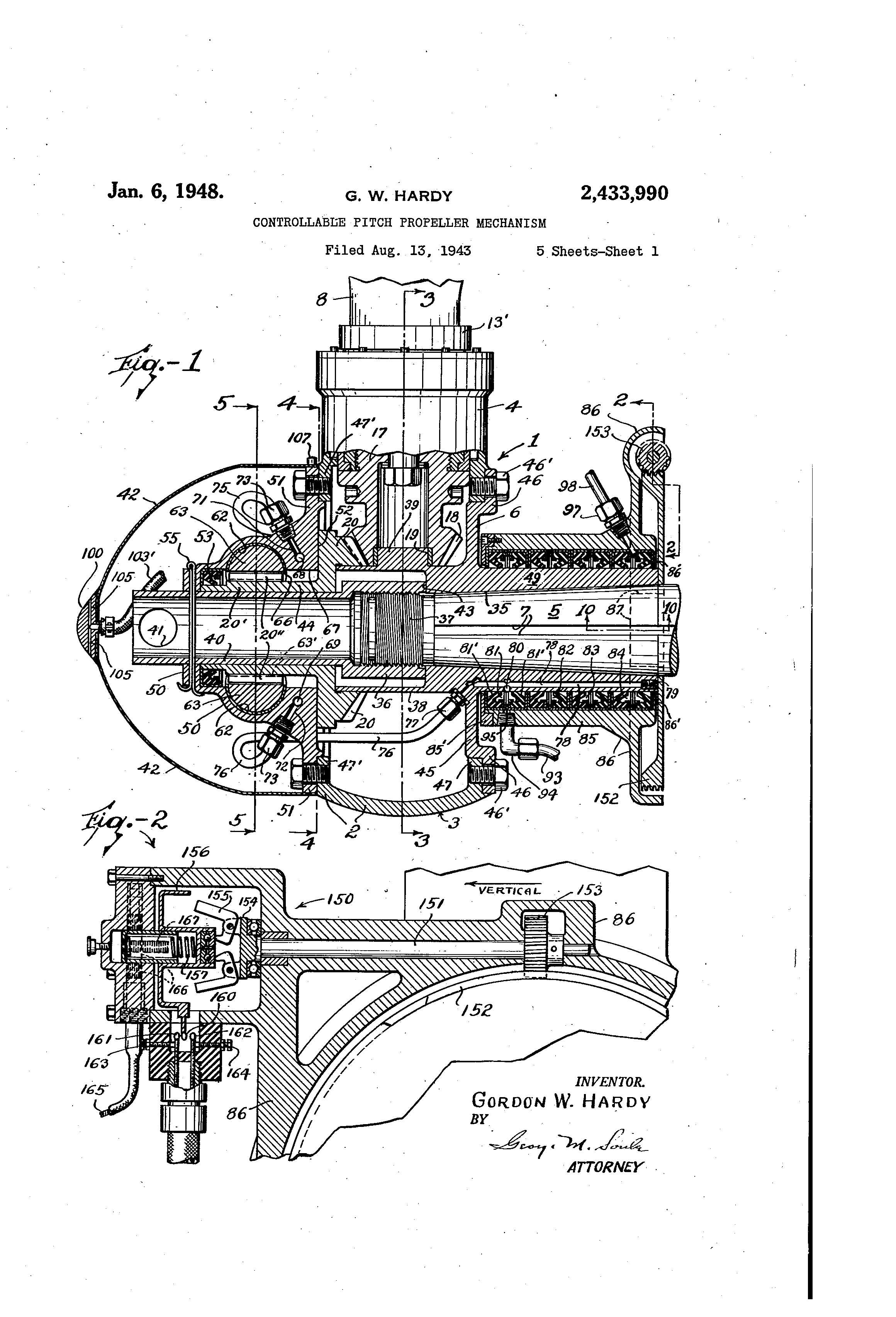 Patent Us2433990 Controllable Pitch Propeller Mechanism