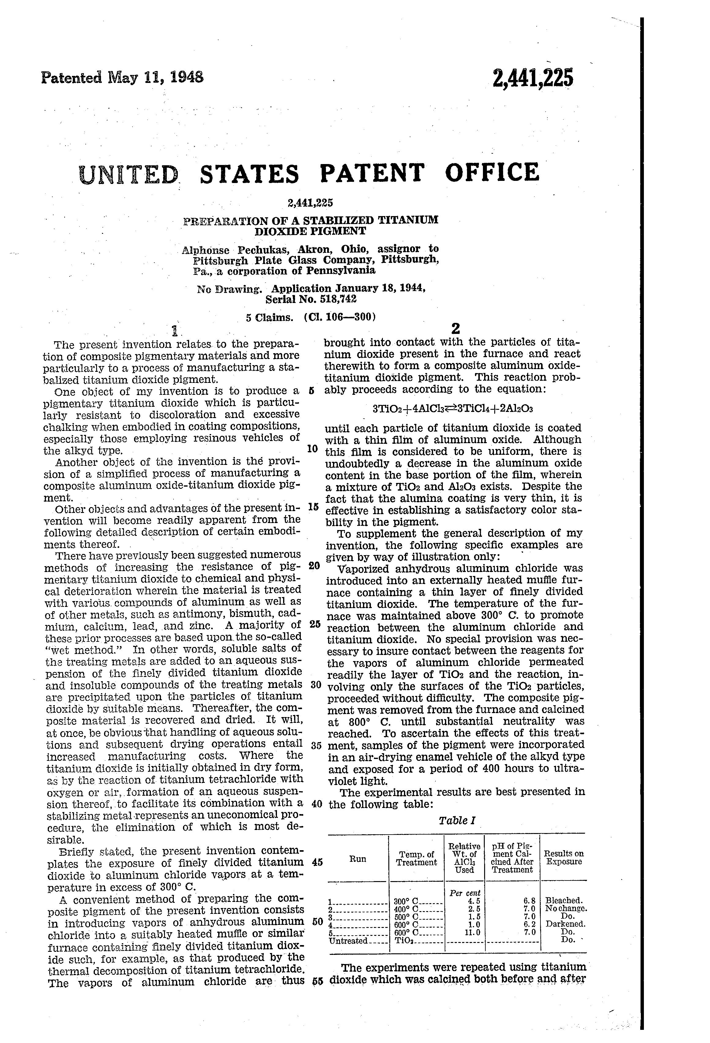 Patent Us2441225 Preparation Of A Stabilized Titanium Dioxide