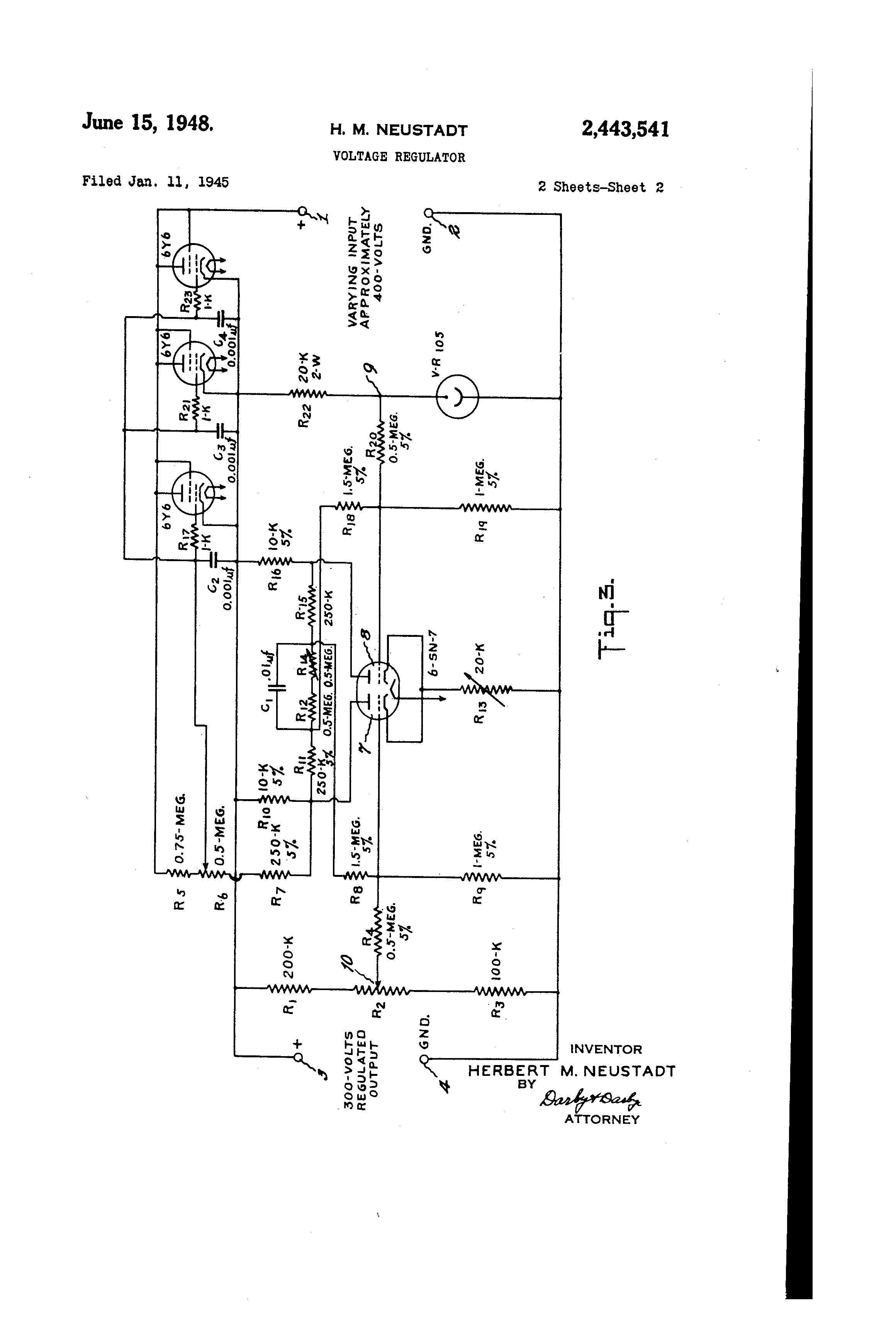 Oregon Electronics A3a Regulated Power Supply Schematic On Dc Tube Filament The 6y6 Was Also Used In Neustadt Voltage Patent