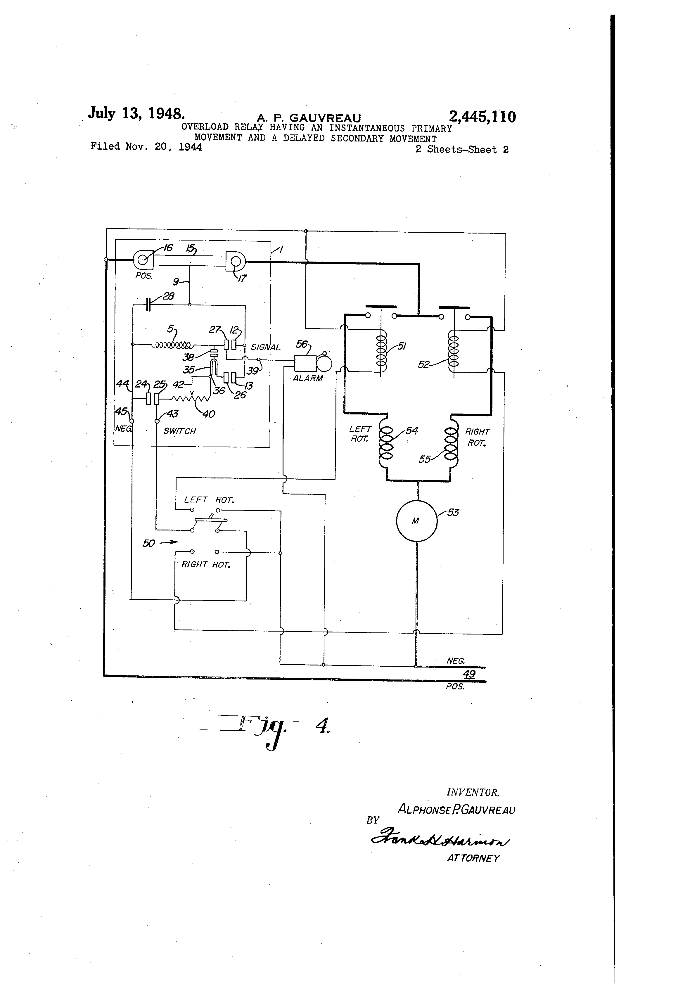 US2445110 1 overload relay wiring diagram overload wiring diagram free all,Current Relay Wiring
