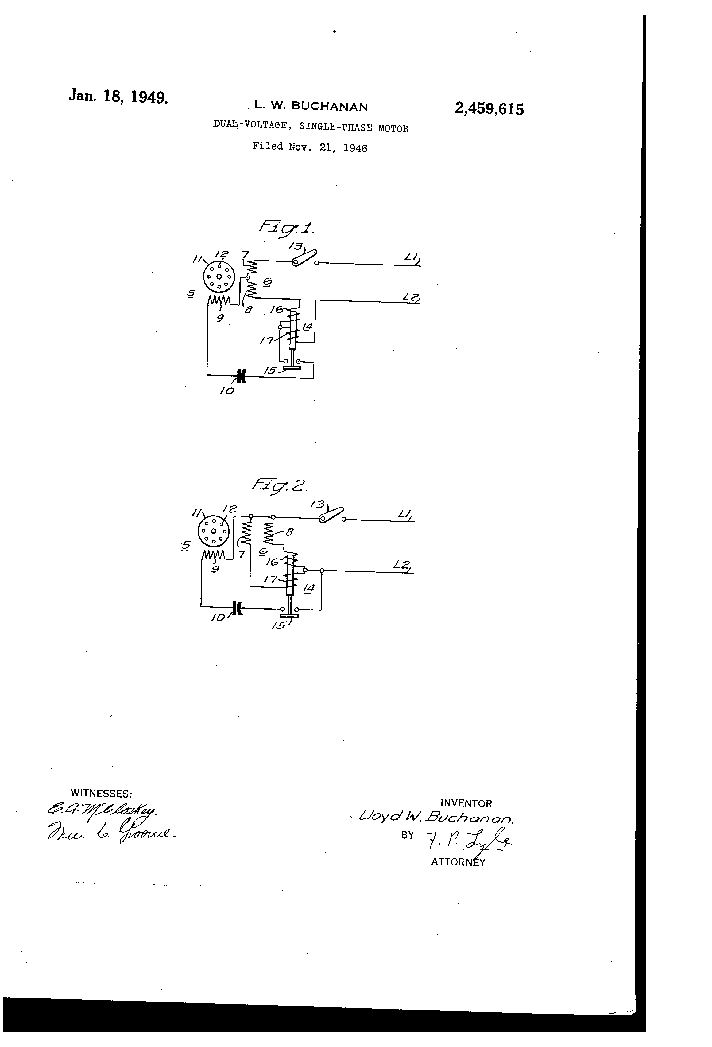 US2459615 0 patent us2459615 dual voltage single phase motor google patents single phase dual voltage motor wiring diagram at gsmx.co