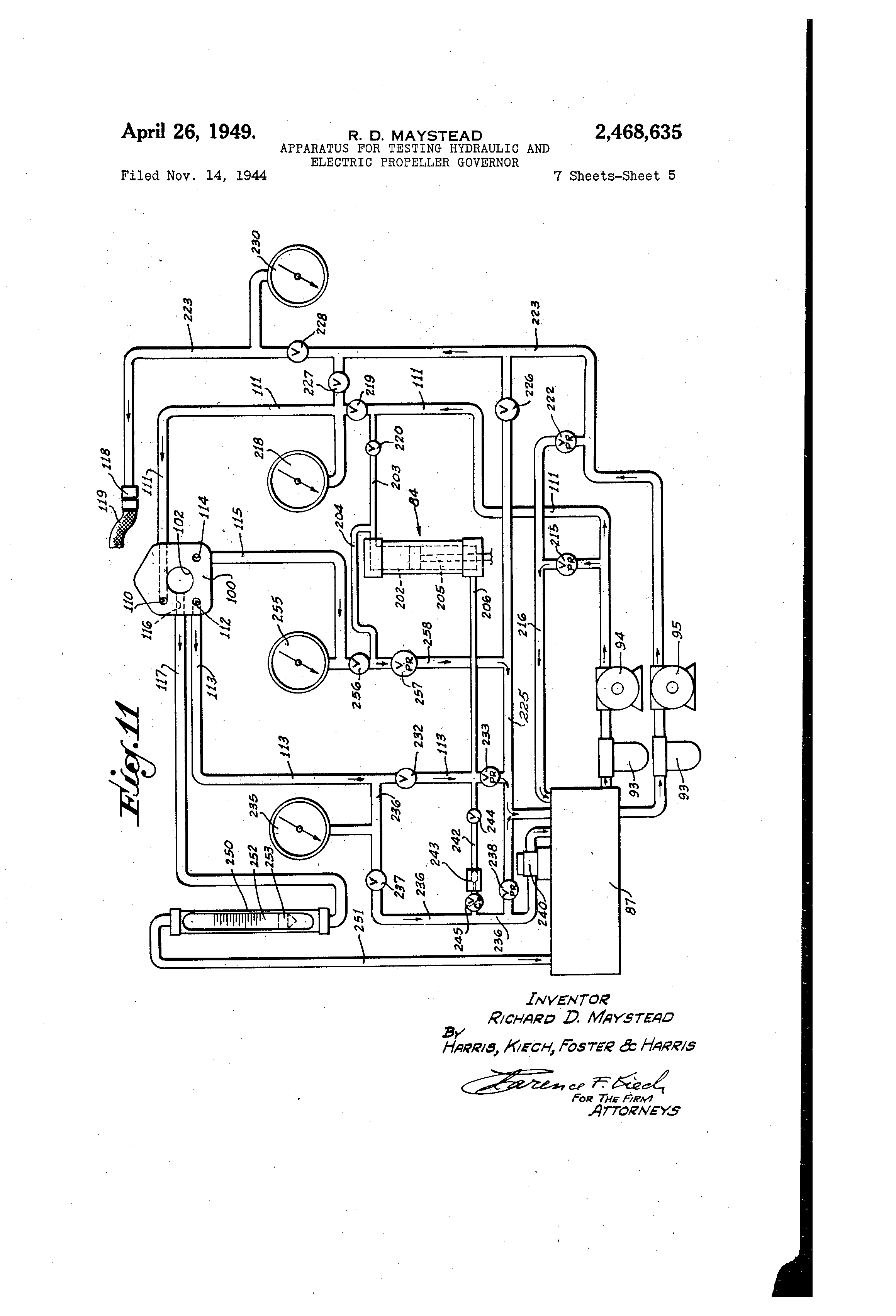 US2468635 4 patent us2468635 apparatus for testing hydraulic and electric r&m hoist wiring diagram at soozxer.org