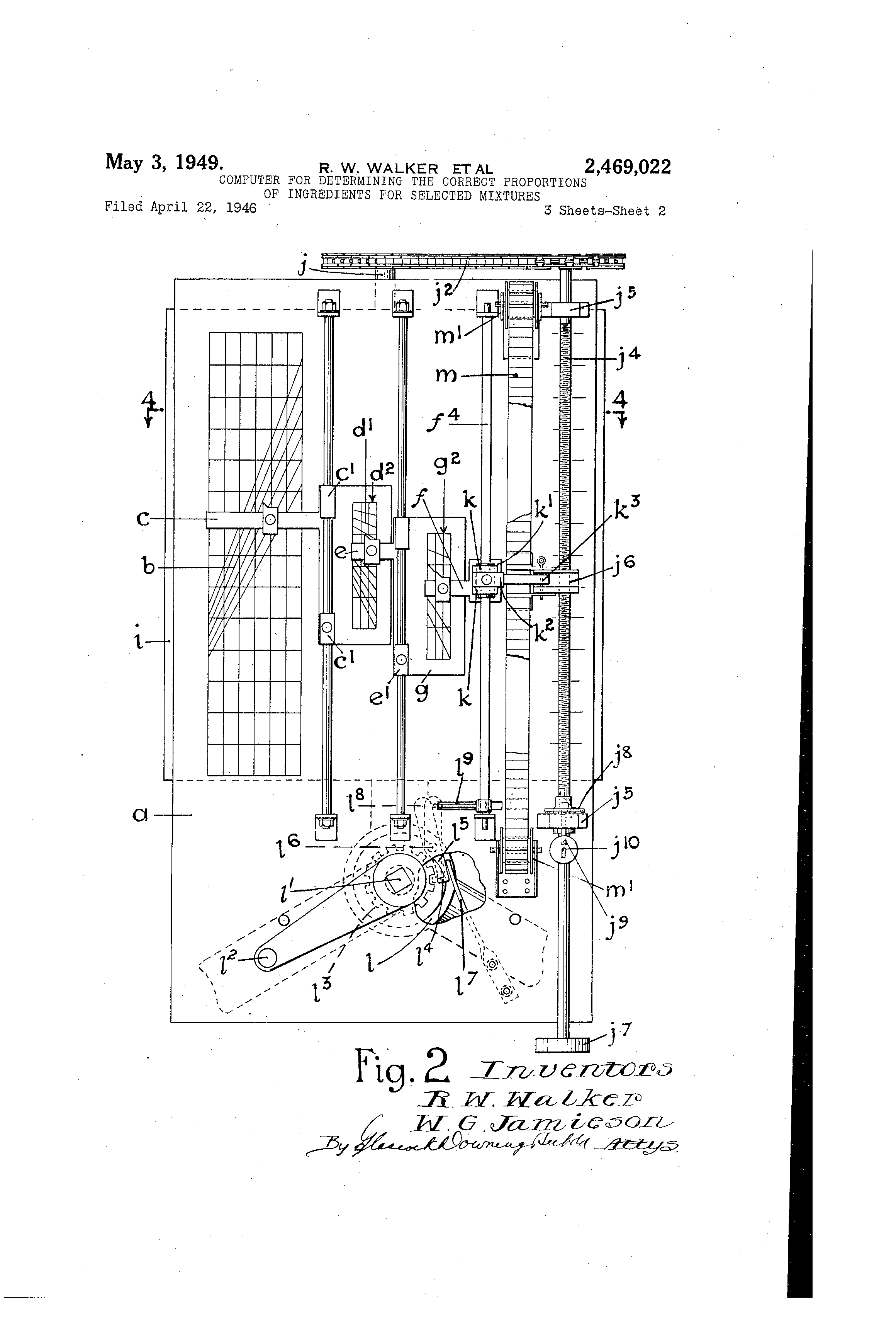 Patent Us2469022 Computer For Determining The Correct
