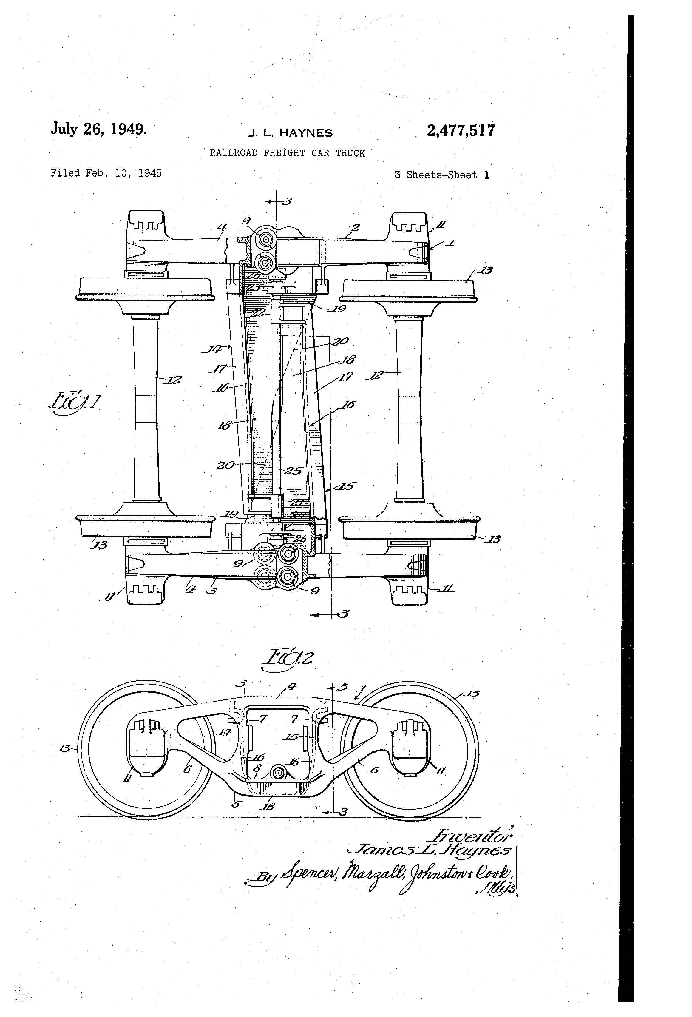 Patent US2477517 - Railroad freight car truck - Google Patents