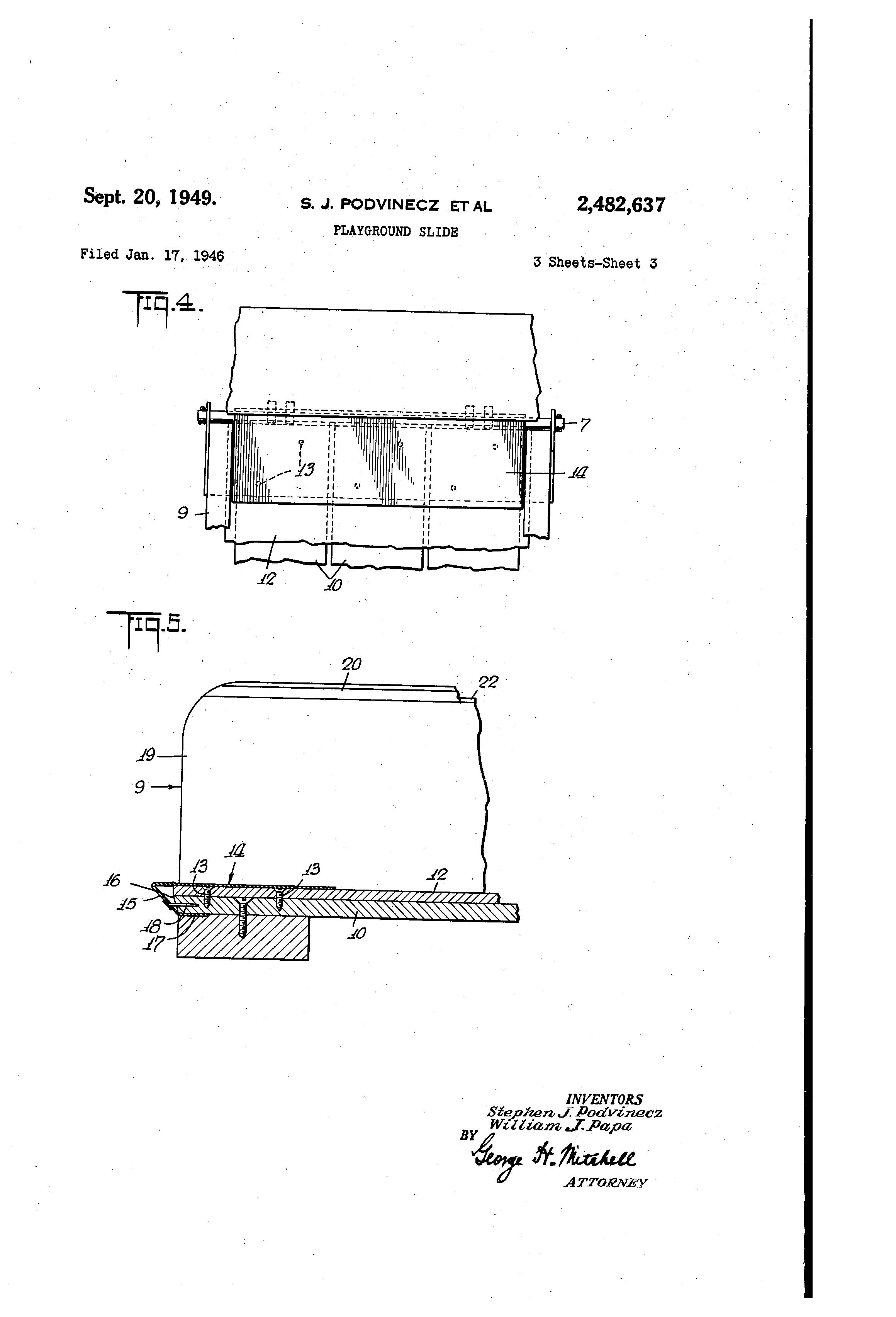 patent us2482637 playground slide google patents