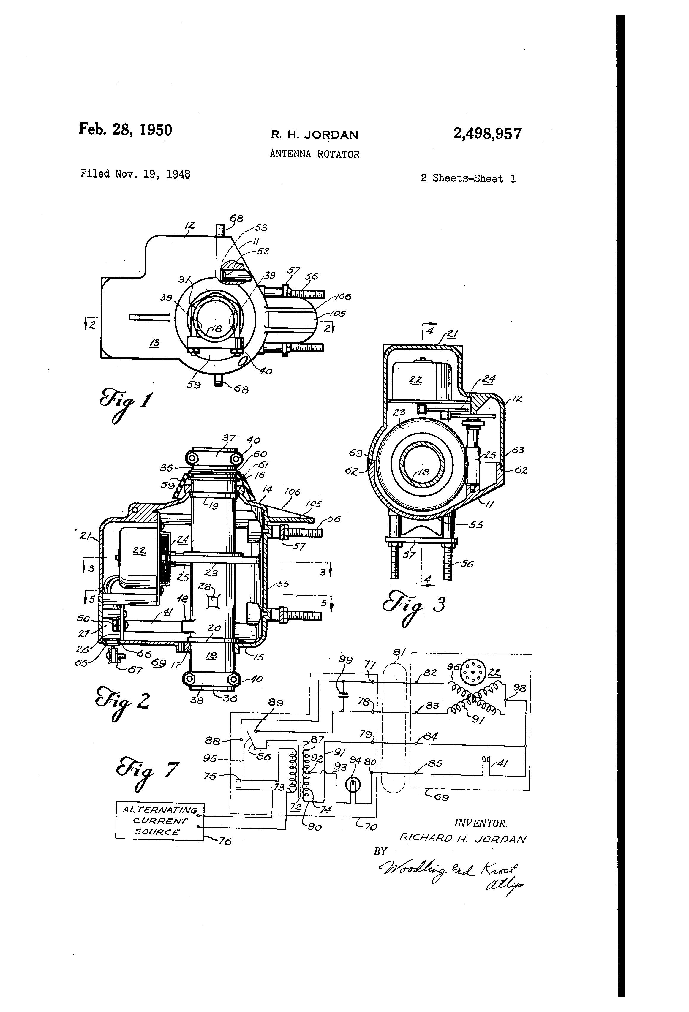 patent us2498957 - antenna rotator