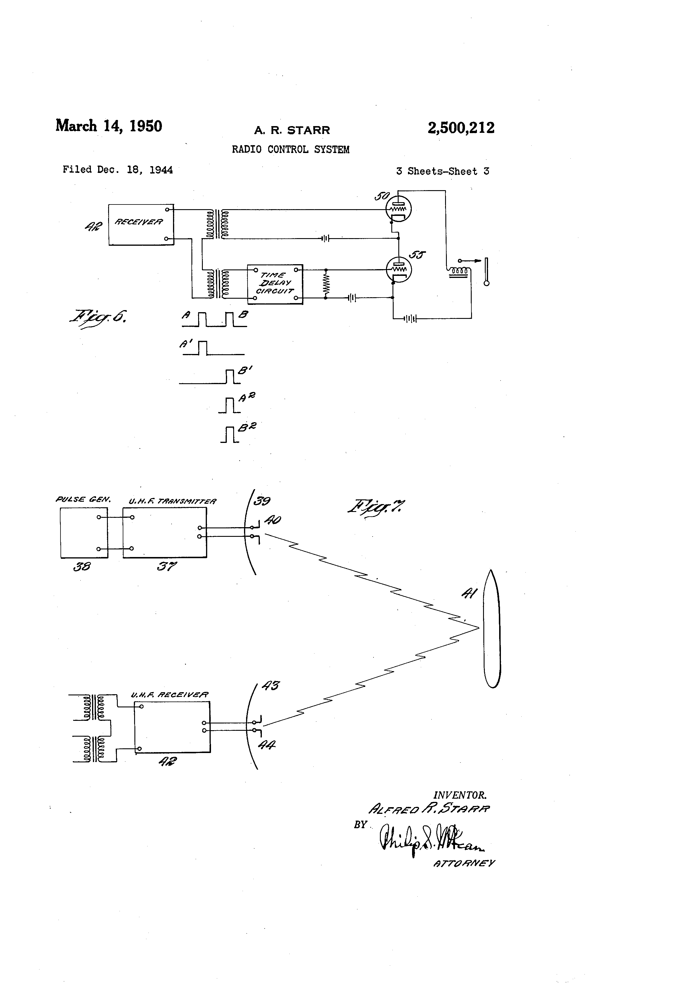 Patent Us2500212 Radio Control System Google Patents Onetube Transmitter Schematic Diagrams And Circuit Descriptions Drawing