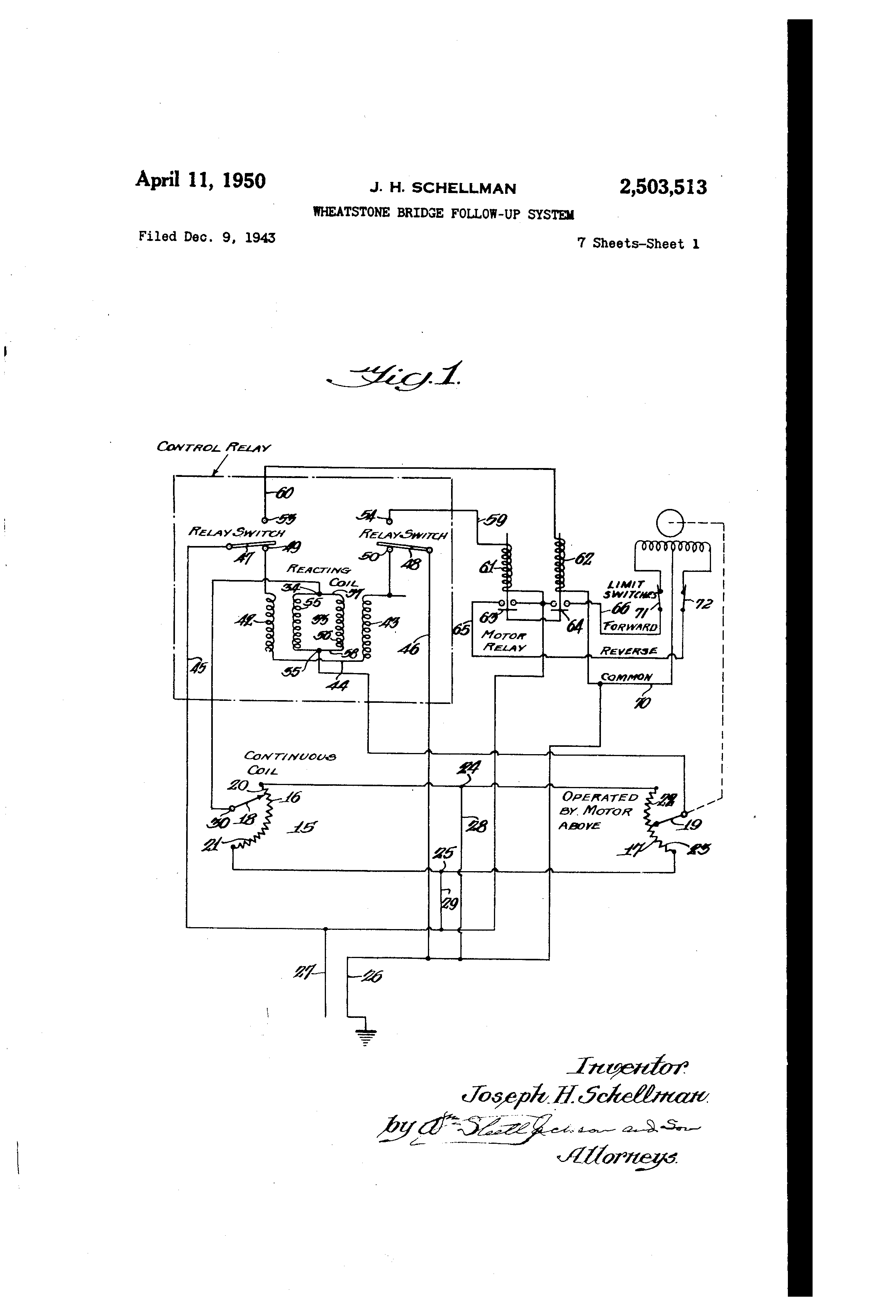 Patent Us2503513 Wheatstone Bridge Follow Up System Google Patents Wiring Diagram Drawing