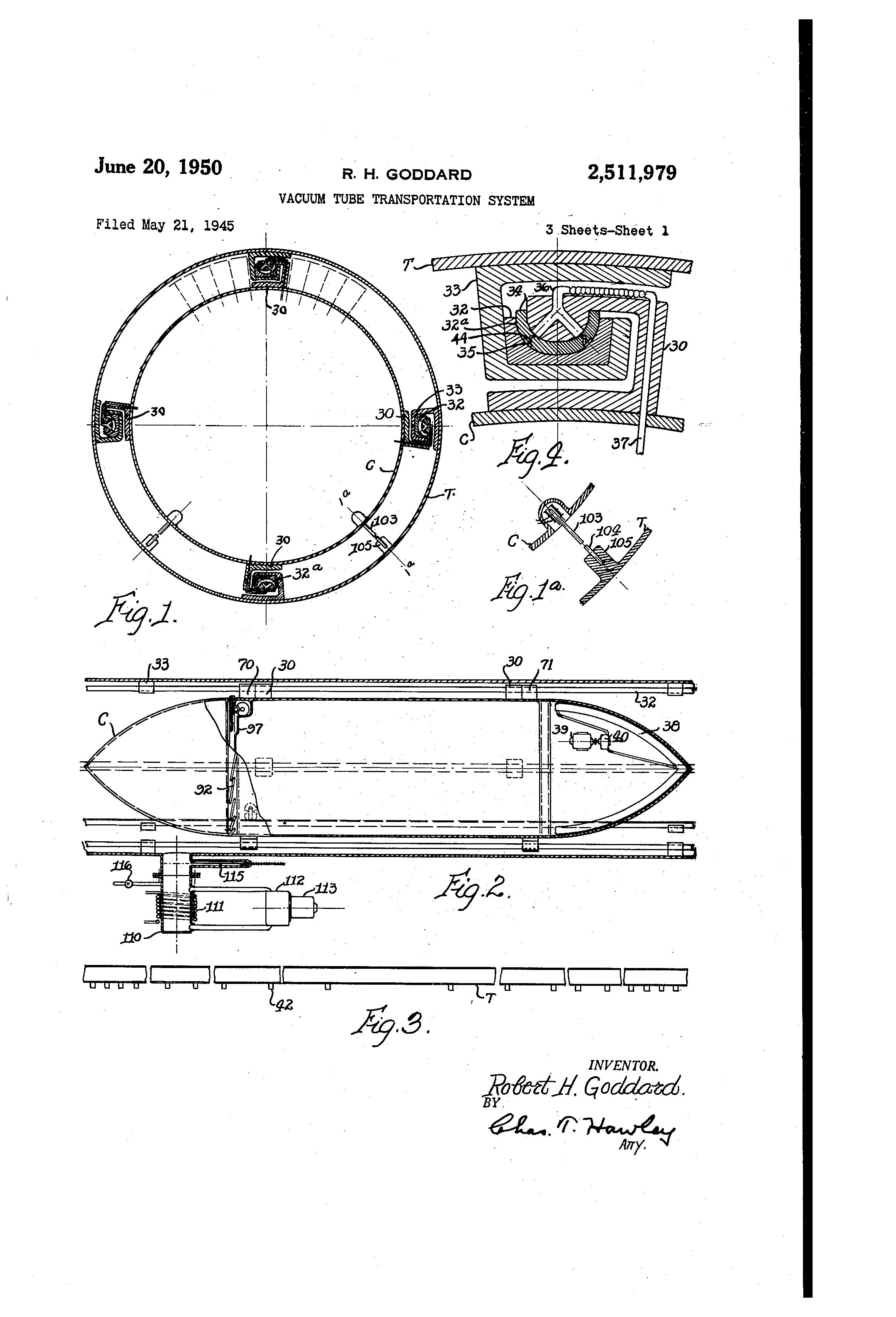 Patent us vacuum tube transportation system