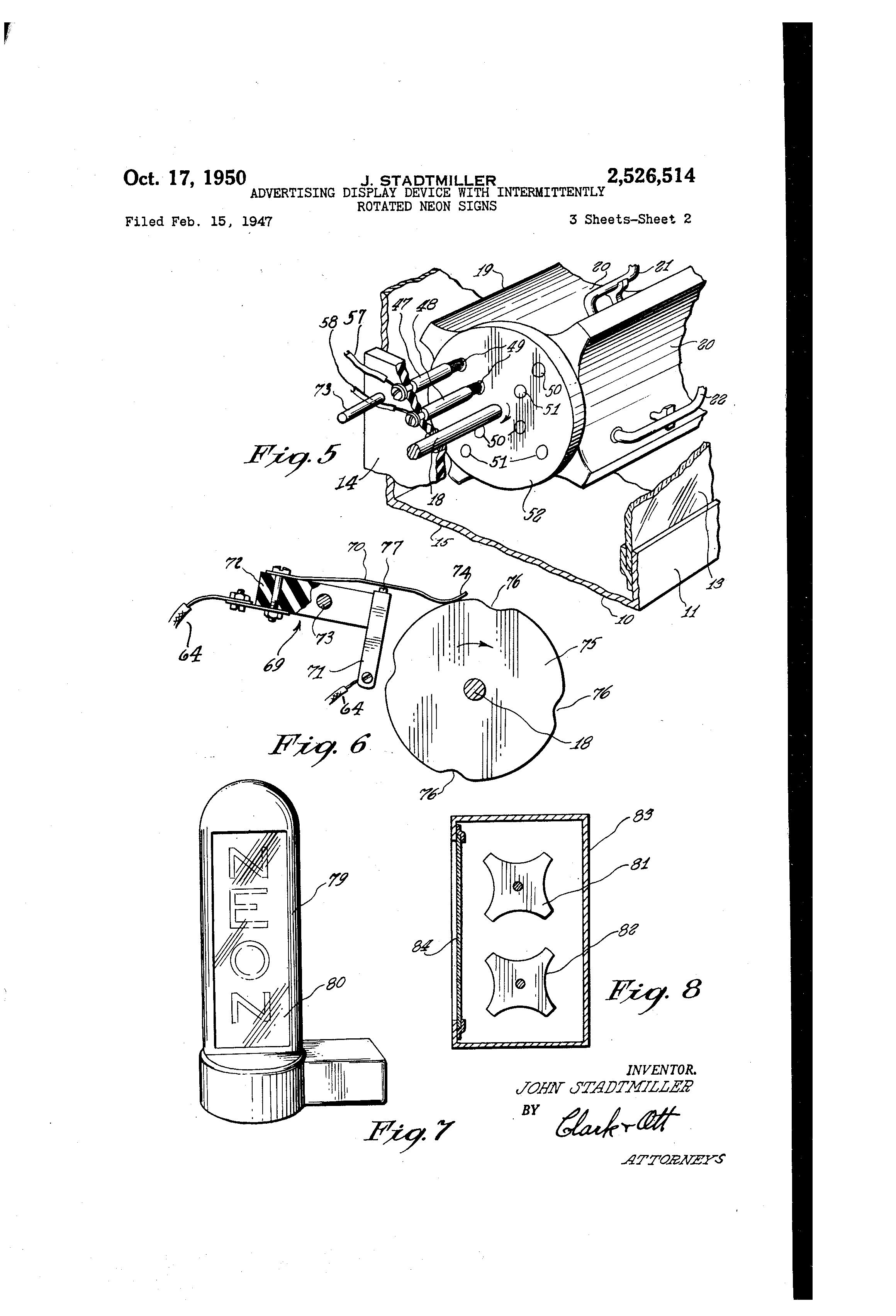 patent us2526514