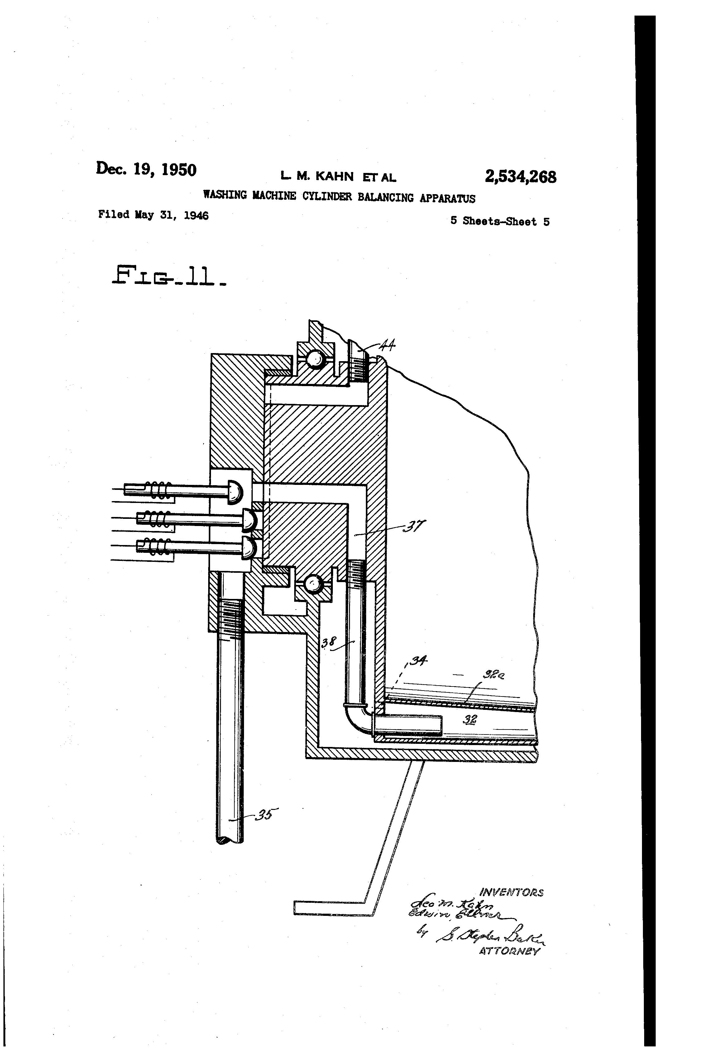 Patent Us2534268 Washing Machine Cylinder Balancing Apparatus Milnor Dryer Wiring Diagram Drawing