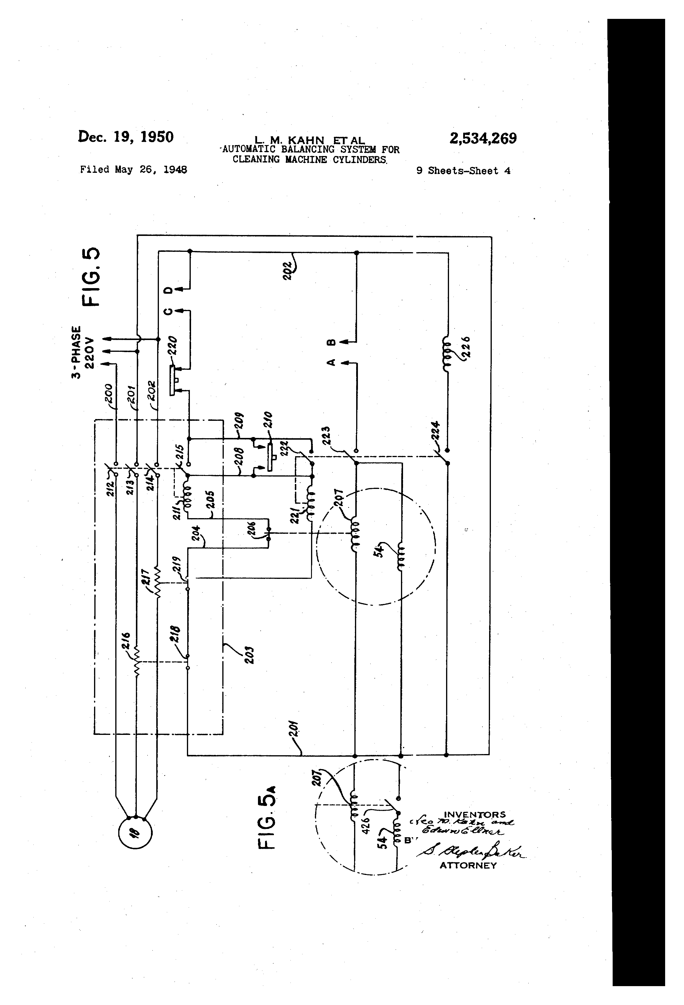 patent us2534269 automatic balancing system for cleaning machine cylinders patents