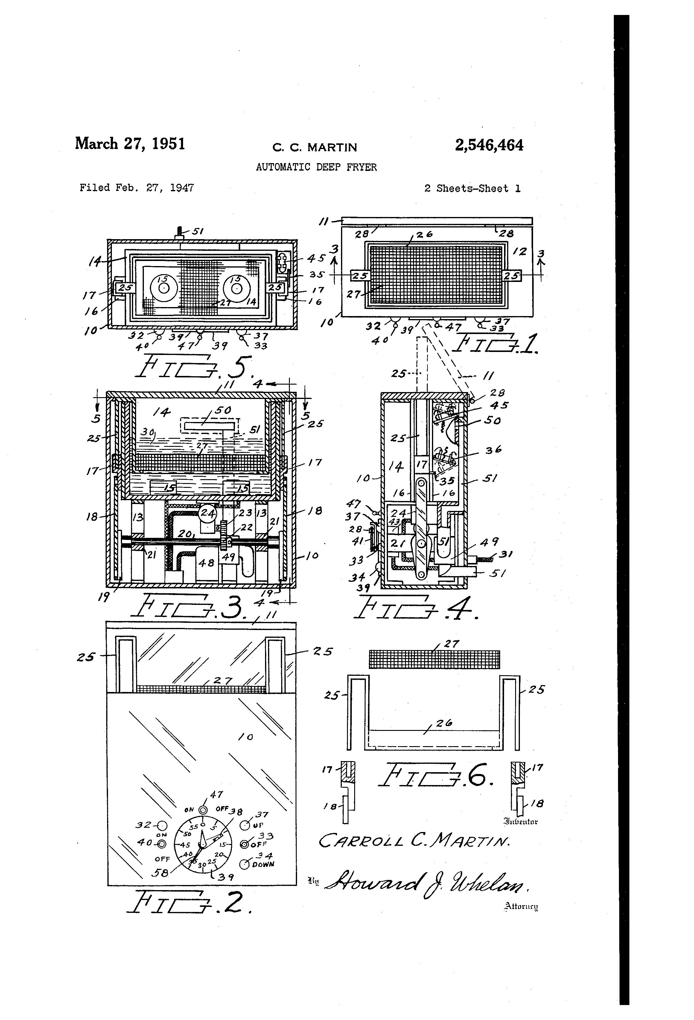 patent us2546464 automatic deep fryer google patents patent drawing