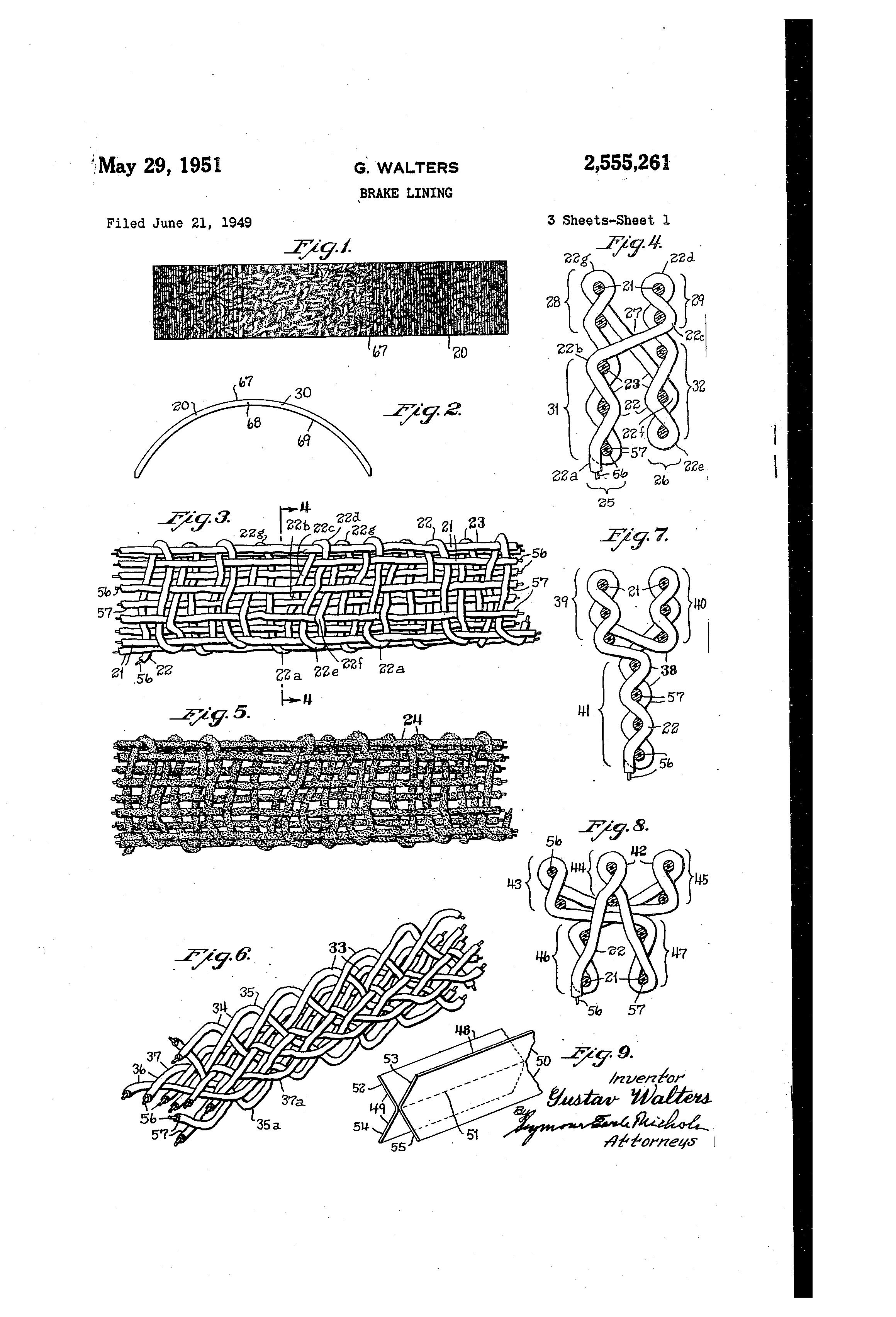Brake Lining Draw : Patent us brake lining google patents