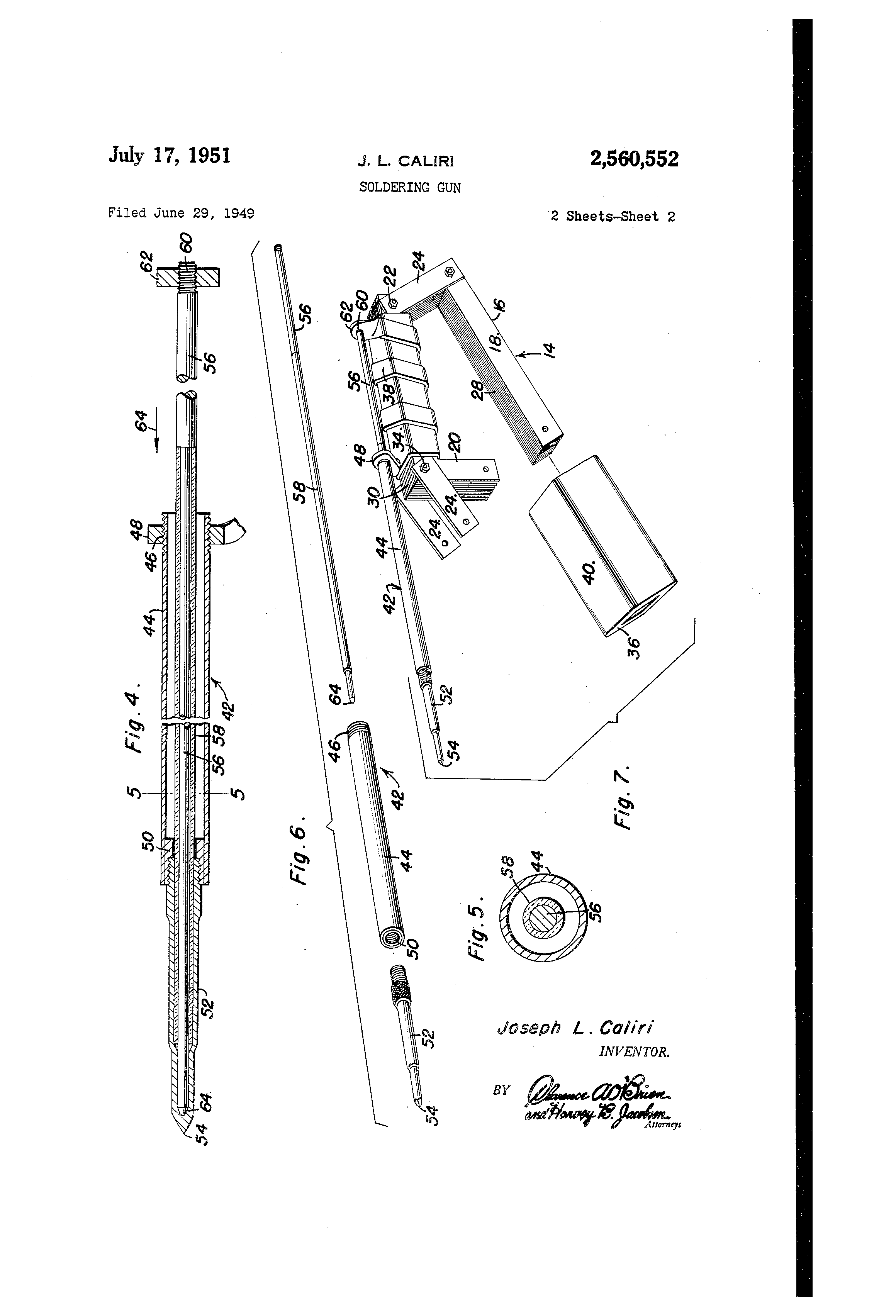 Patent Us2560552 Soldering Gun Google Patents