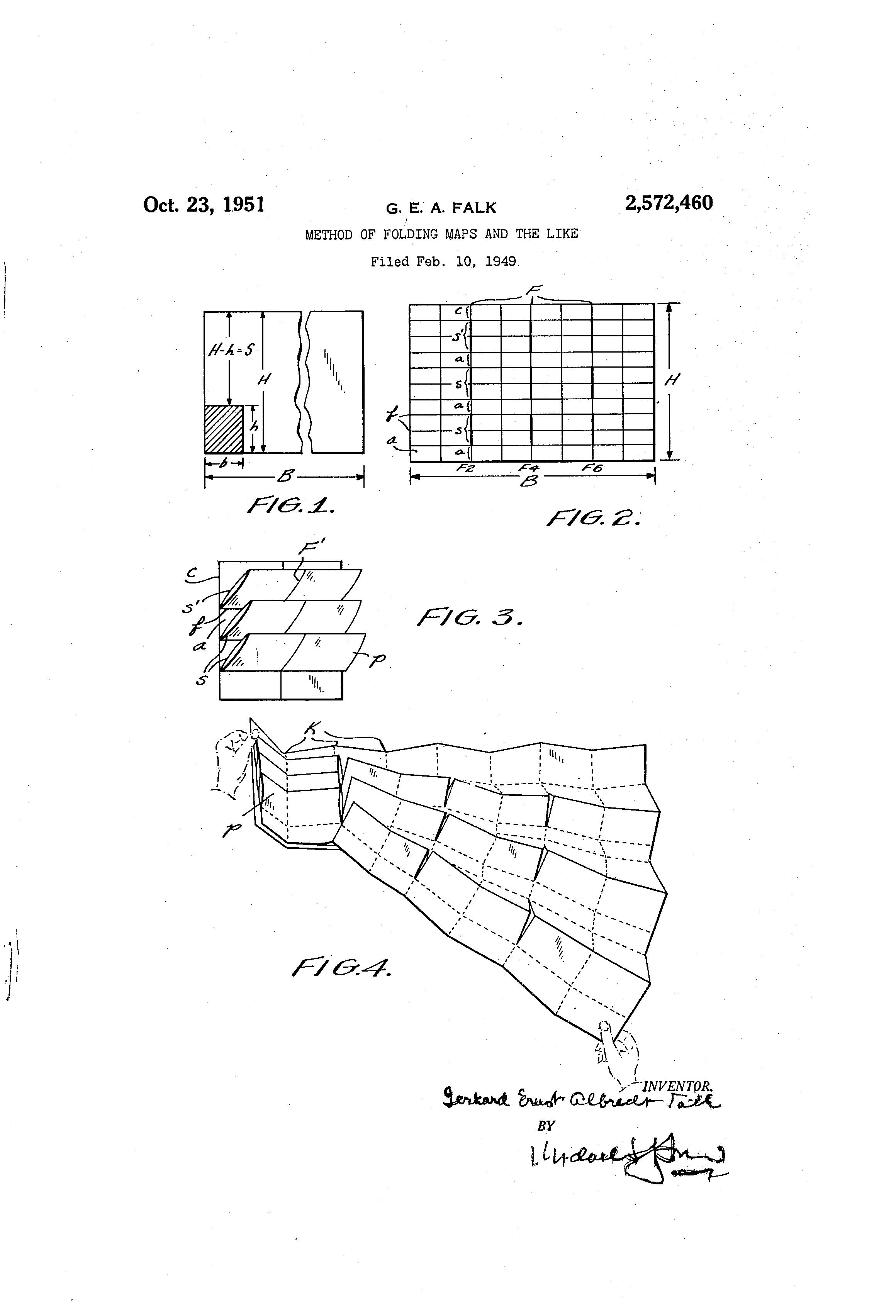 Patent US Method Of Folding Maps And The Like Google - Us map fold