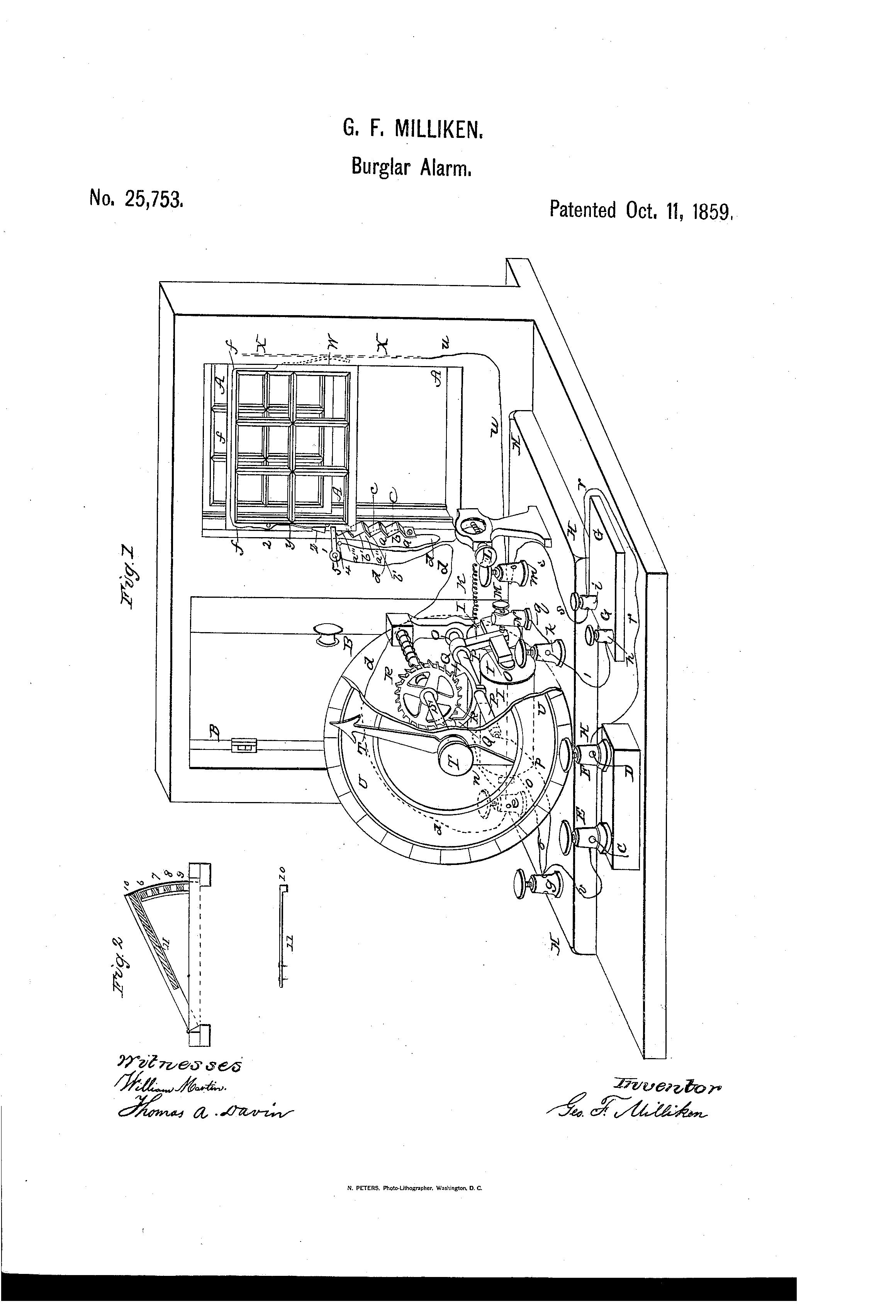 George F. Milliken Patent