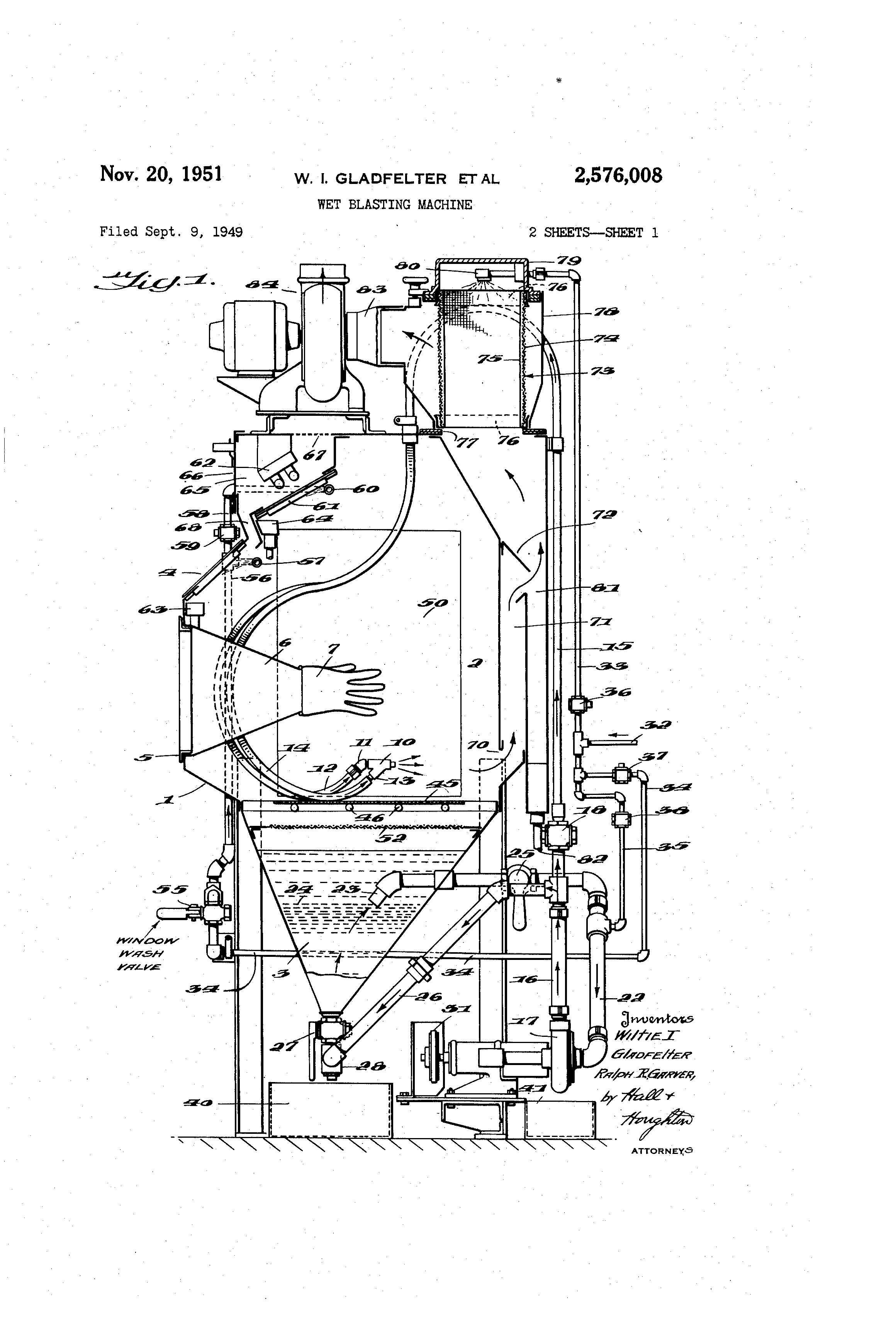 Patent Us2576008 Wet Blasting Machine Google Patents