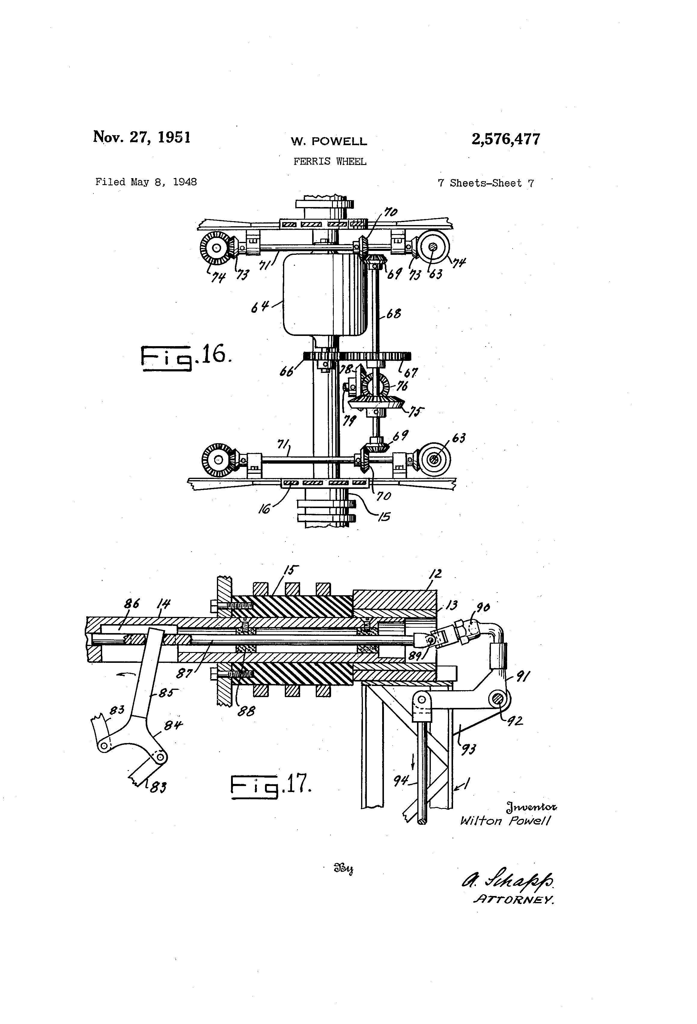 Patent US2576477 - Ferris wheel - Google Patents
