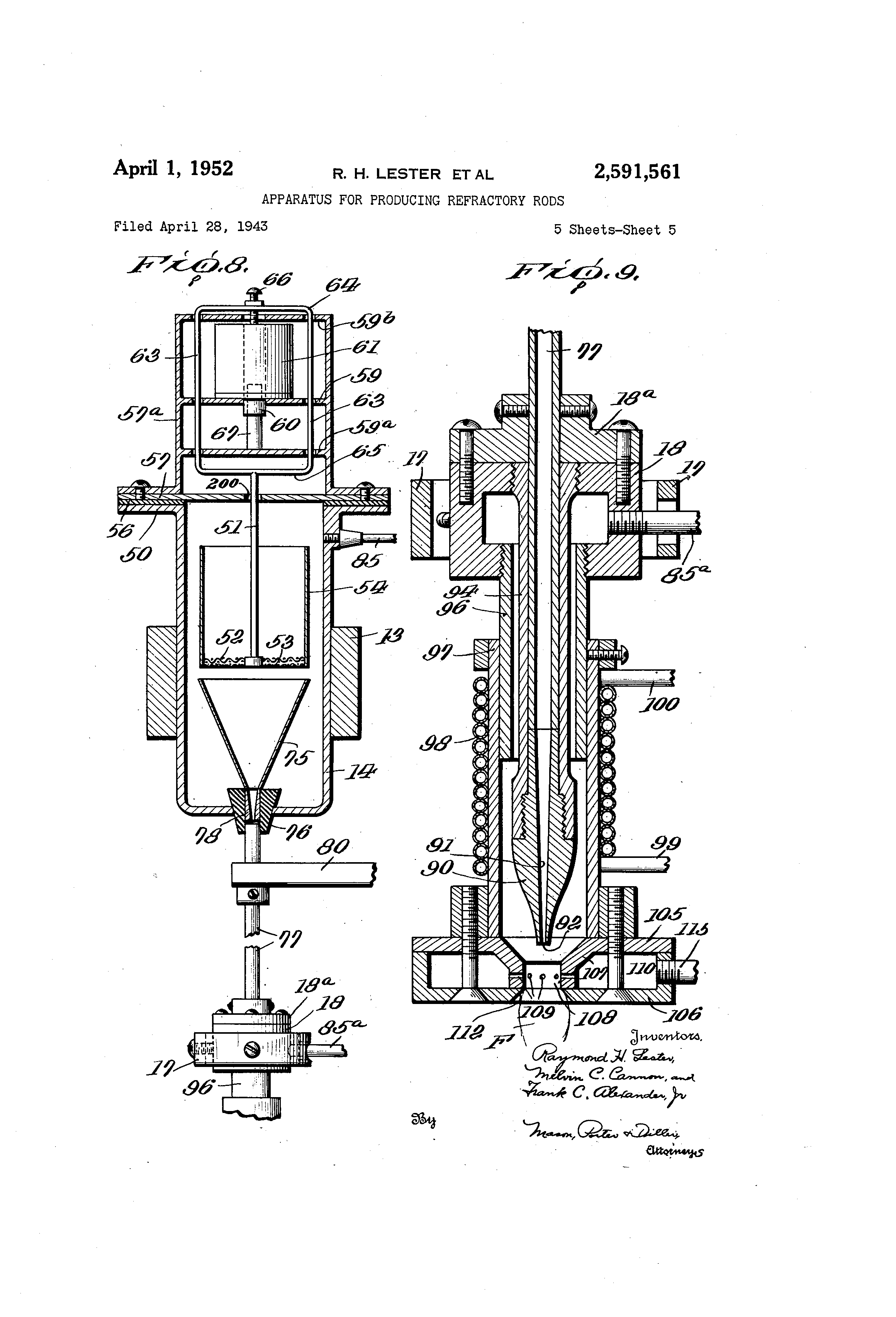 Patent US2591561 - Apparatus for producing refractory rods - Google ...