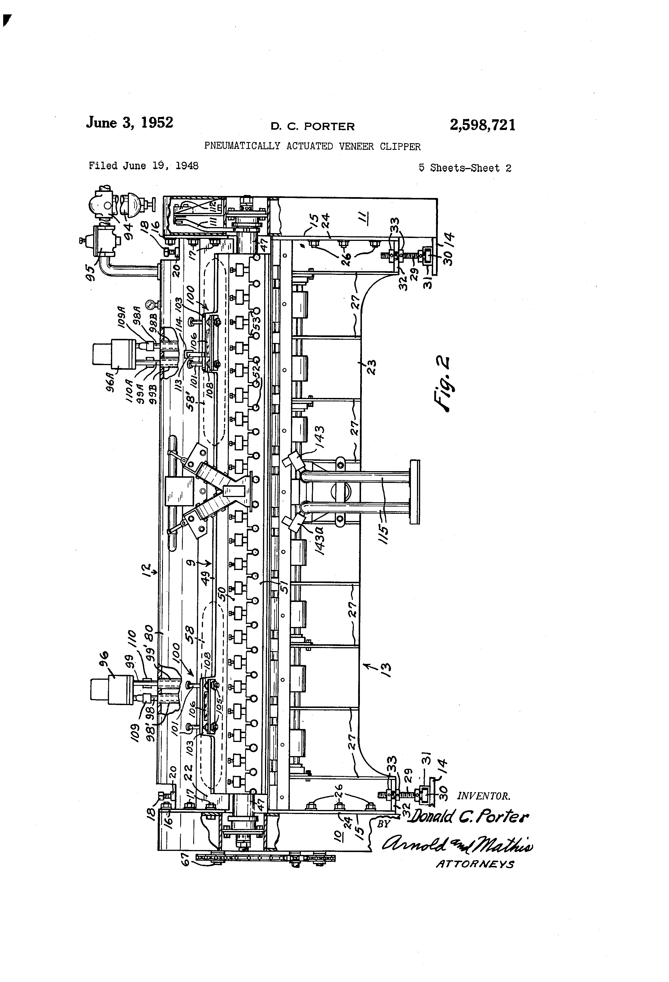 patent us2598721 pneumatically actuated veneer clipper google patent drawing
