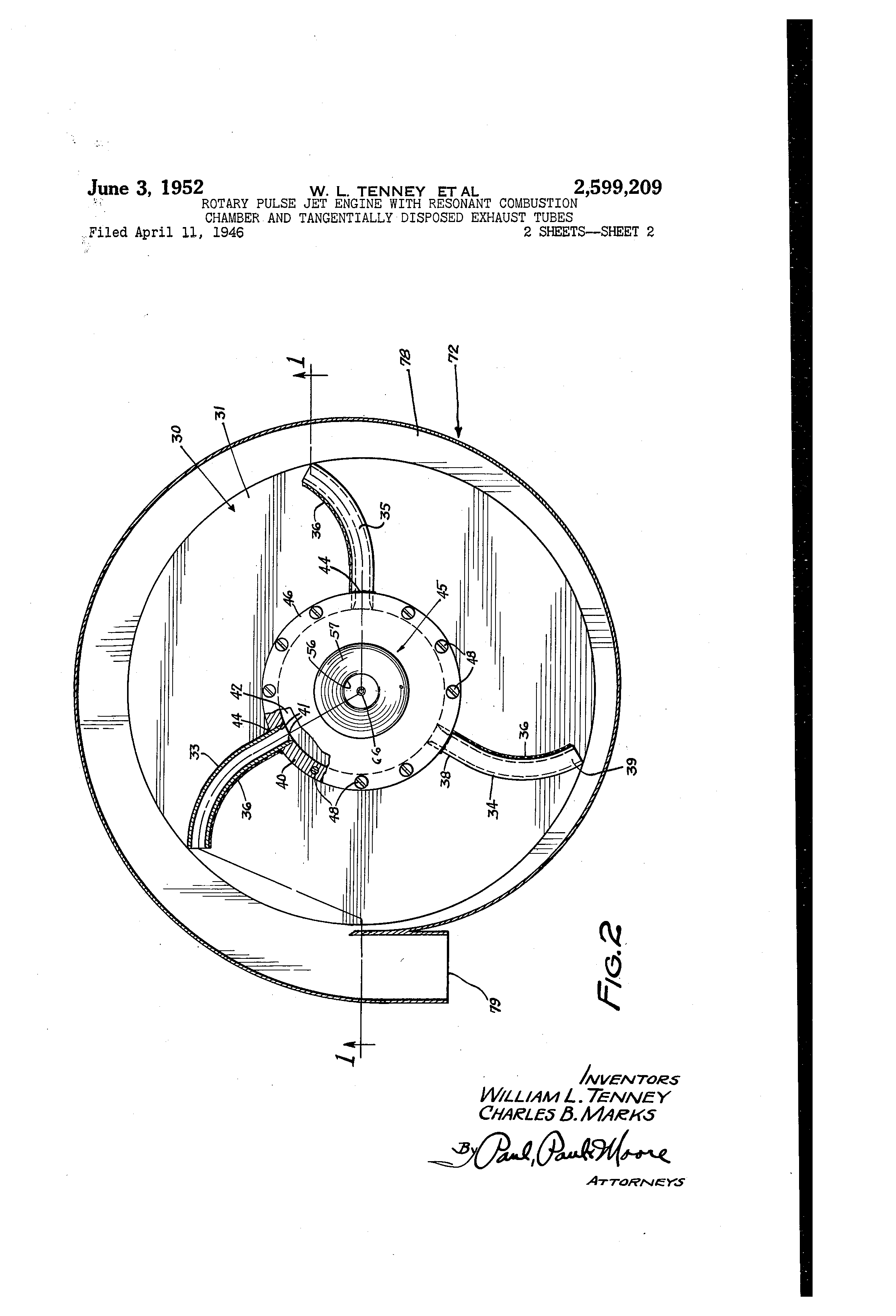 patent us2599209