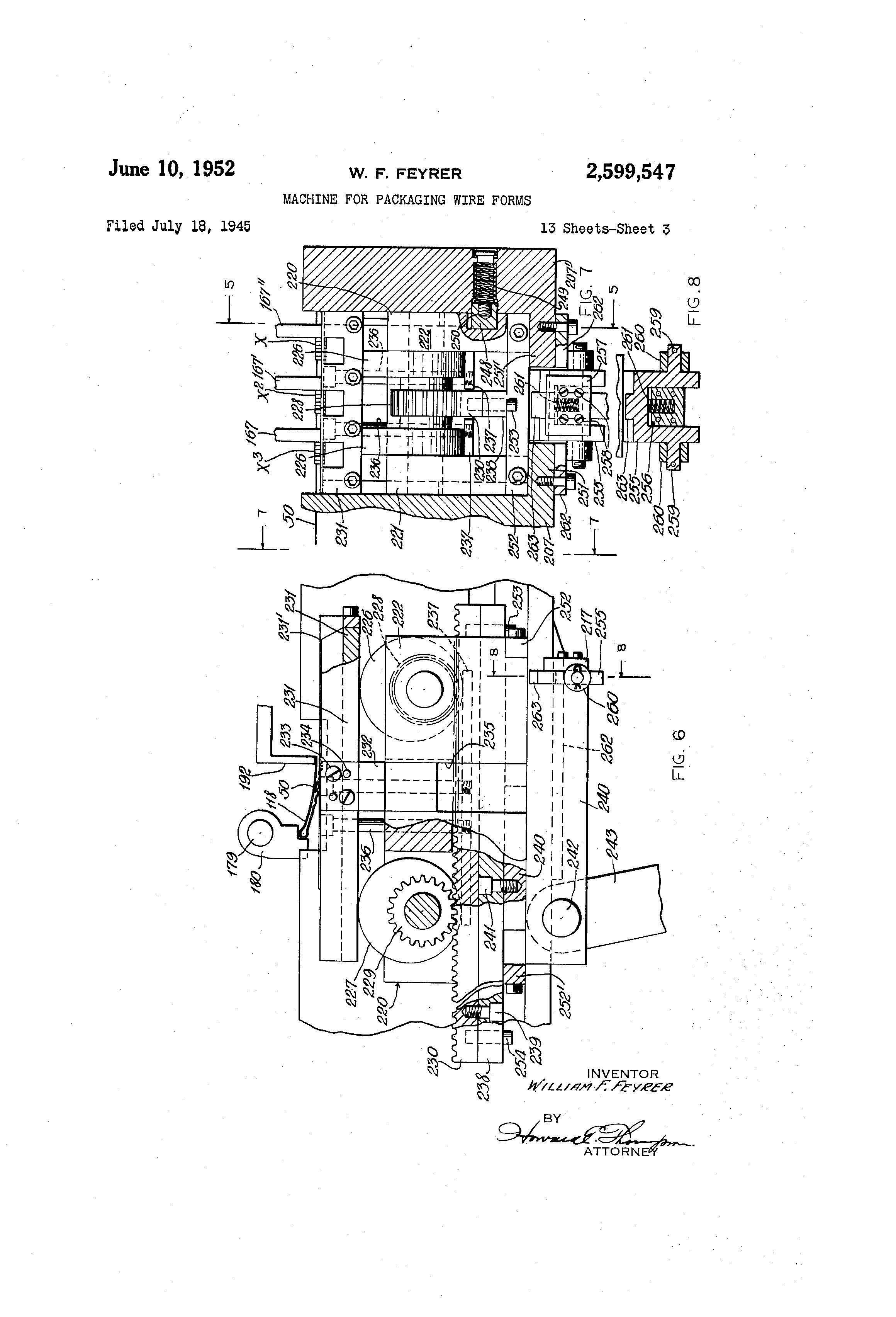 patent us2599547 machine for packaging wire forms google patents