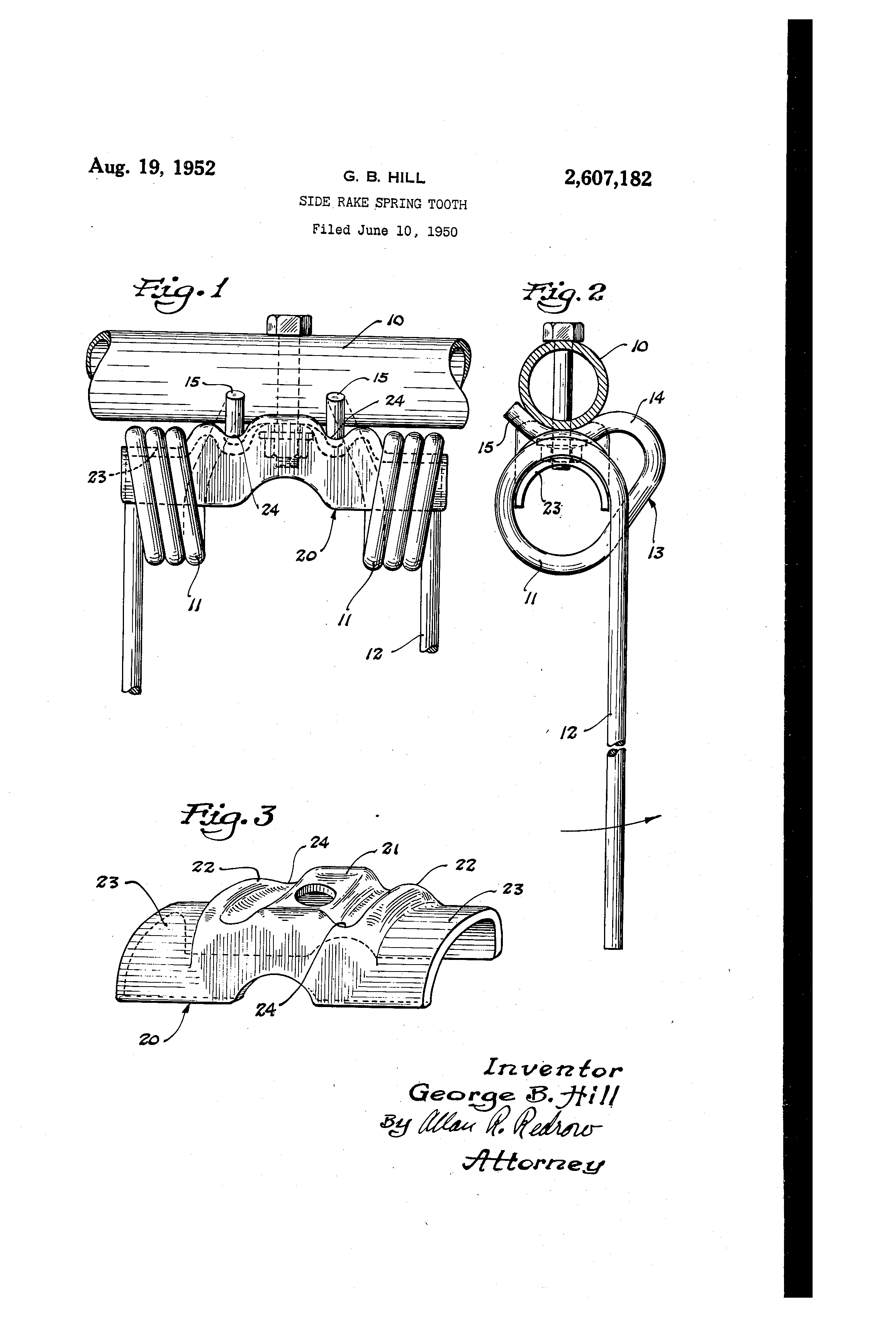 Patent US2607182 - Side rake spring tooth - Google Patents