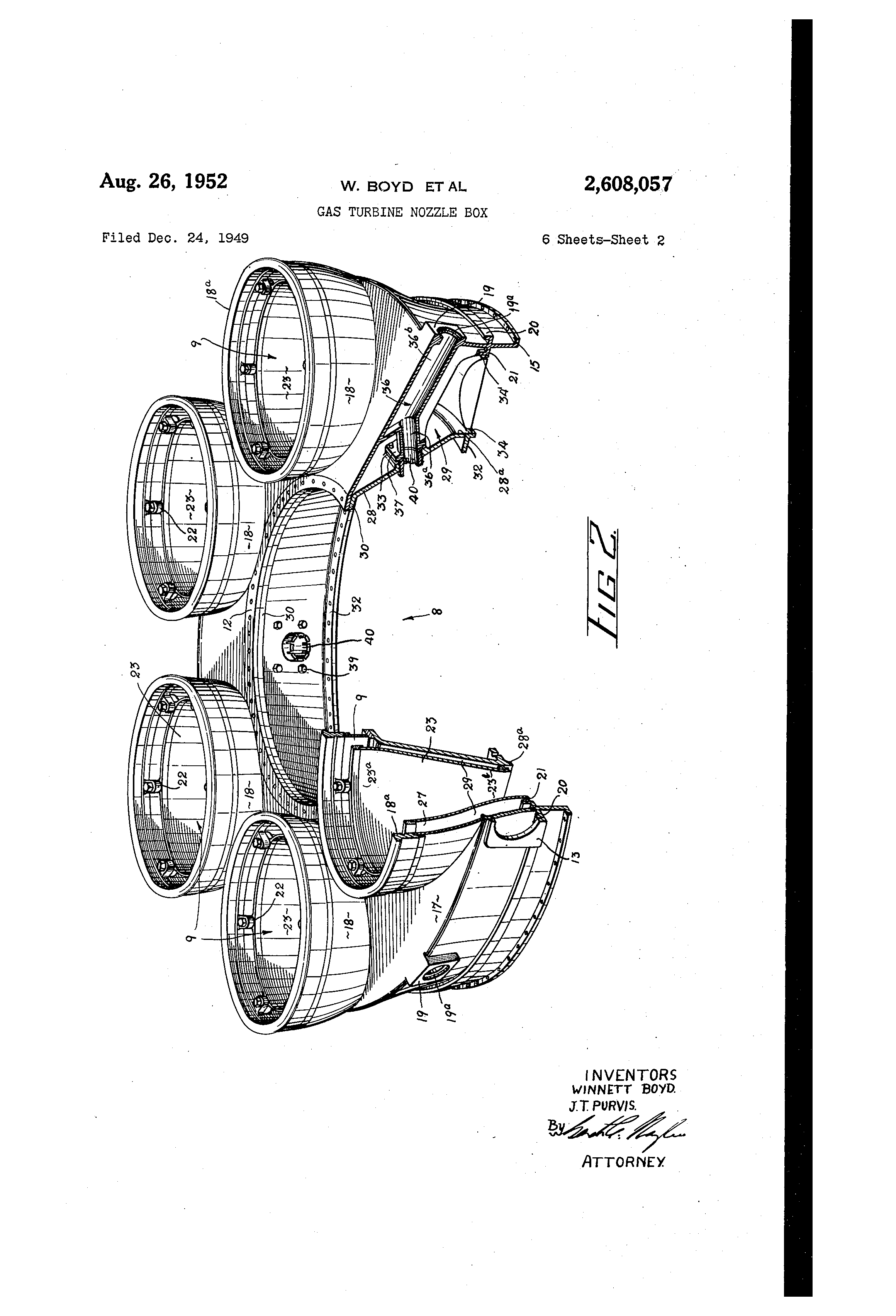 Patent US Gas turbine nozzle box Google Patents