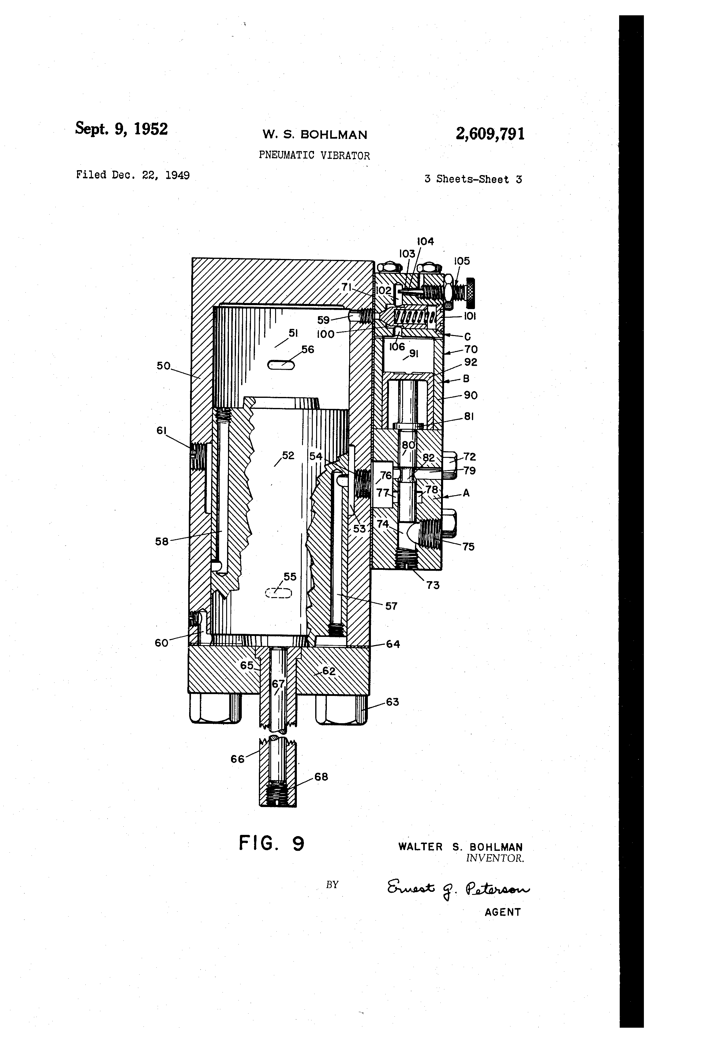 US2609791 2 patent us2609791 pneumatic vibrator google patents gamewell fire alarm box wiring diagram at edmiracle.co