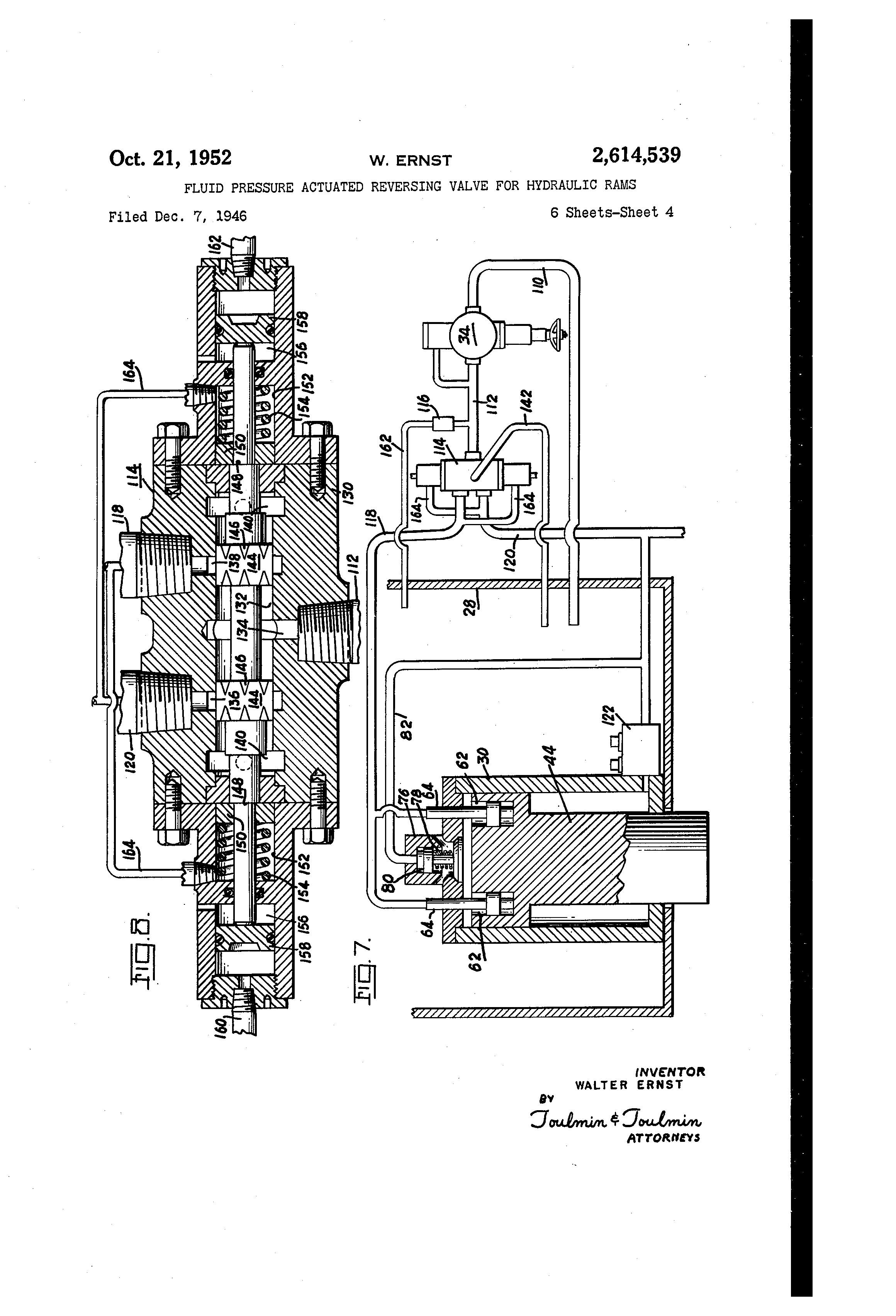 patent us fluid pressure actuated reversing valve for patent drawing