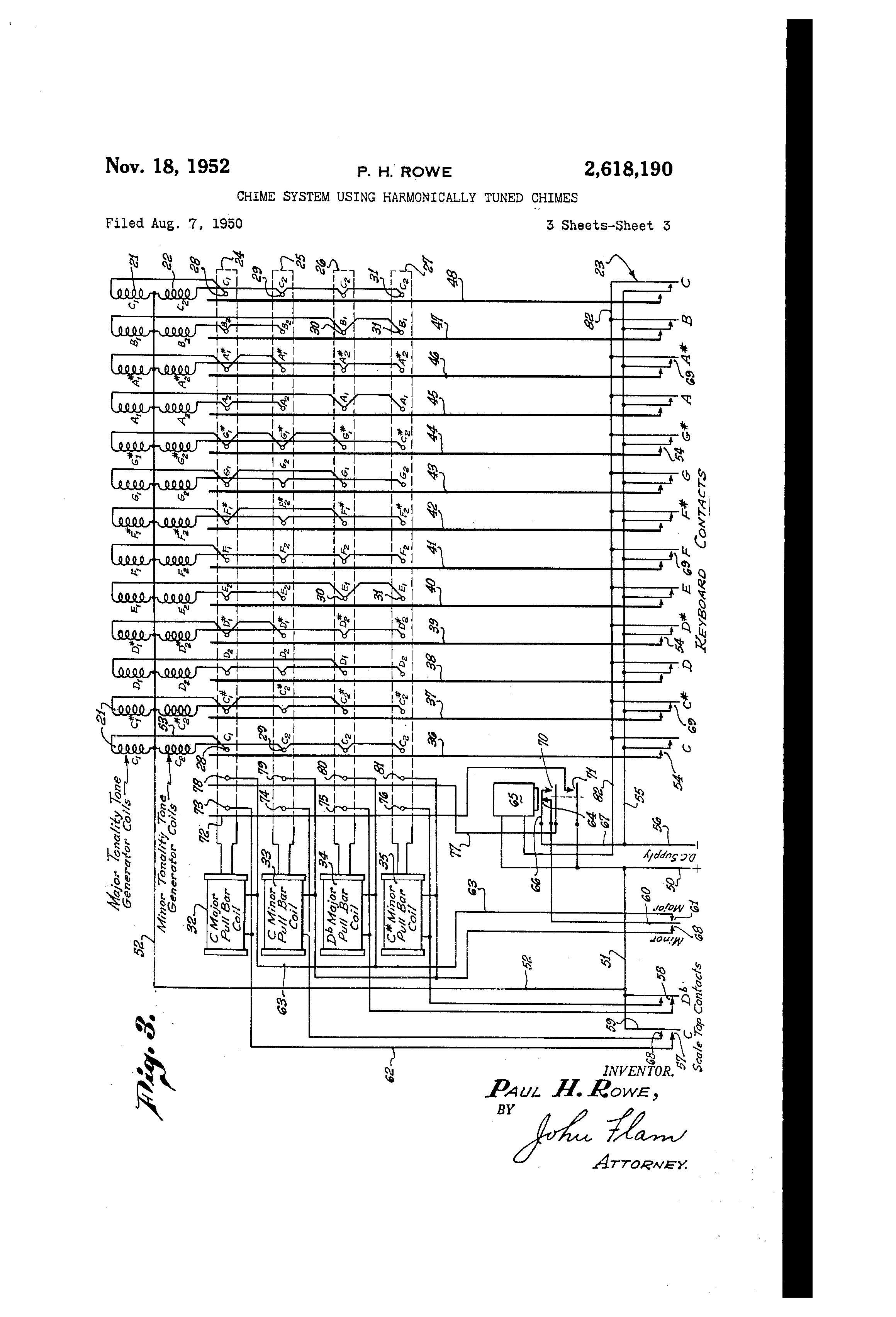 US2618190 2 patent us2618190 chime system using harmonically tuned chimes  at n-0.co