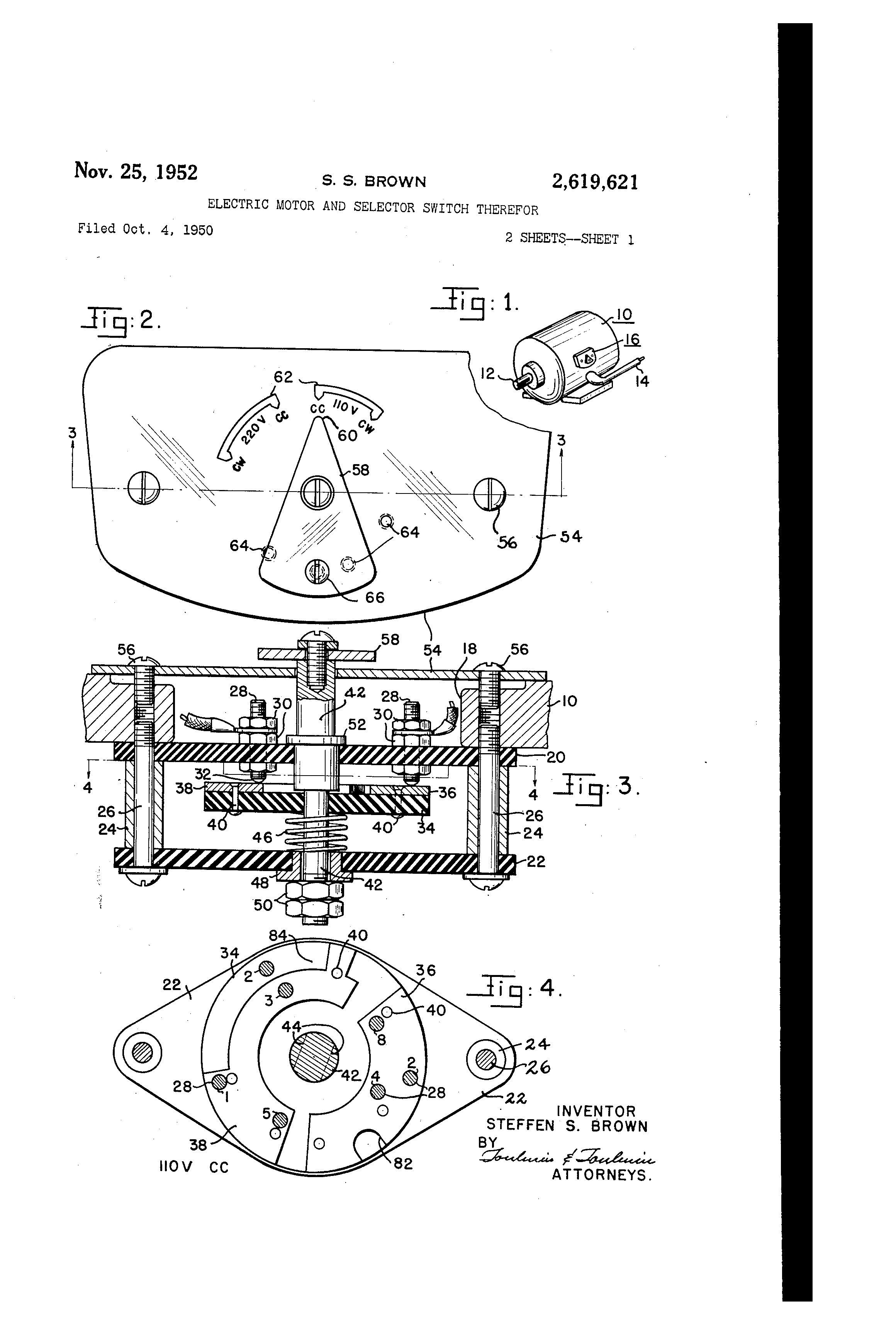 US2619621 0 patent us2619621 electric motor and selector switch therefor,Dayton Electric Motor Wiring Schematics