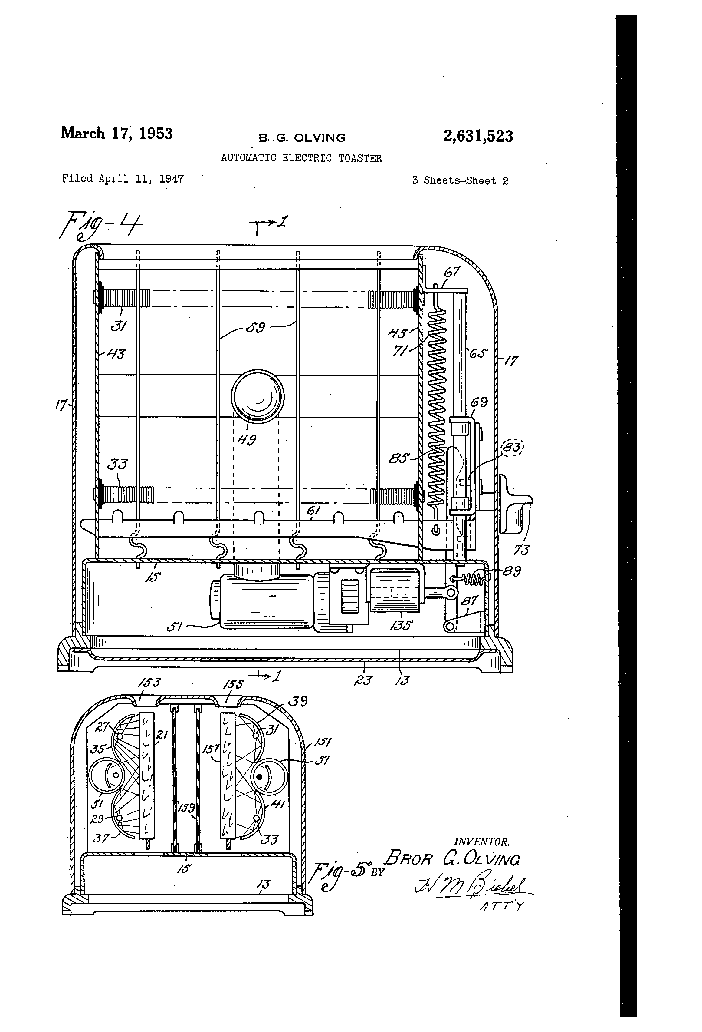 Patent Us2631523 - Automatic Electric Toaster