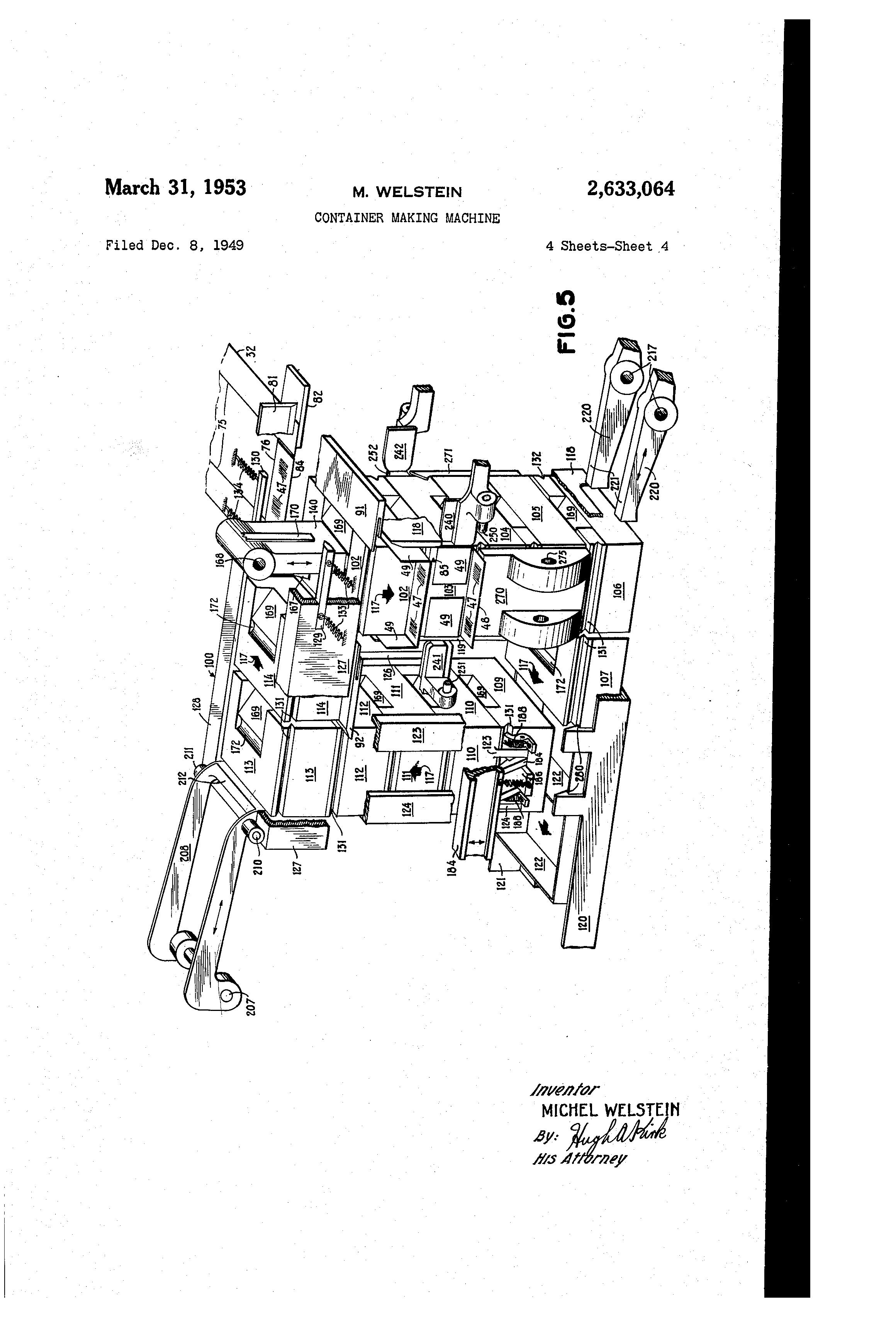 Patent US2633064 - Container making machine - Google Patents
