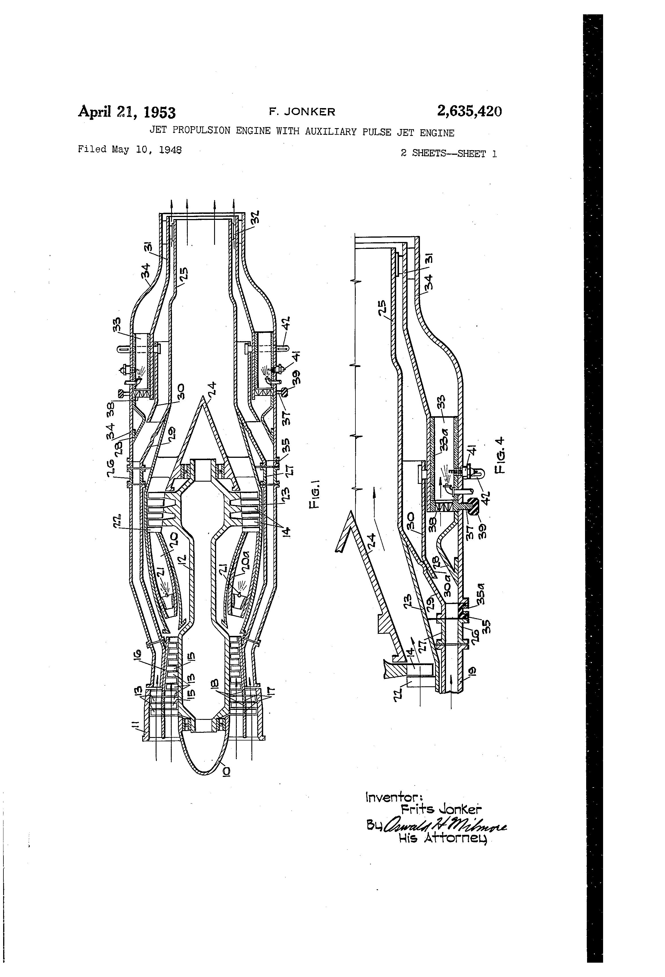 patent us2635420