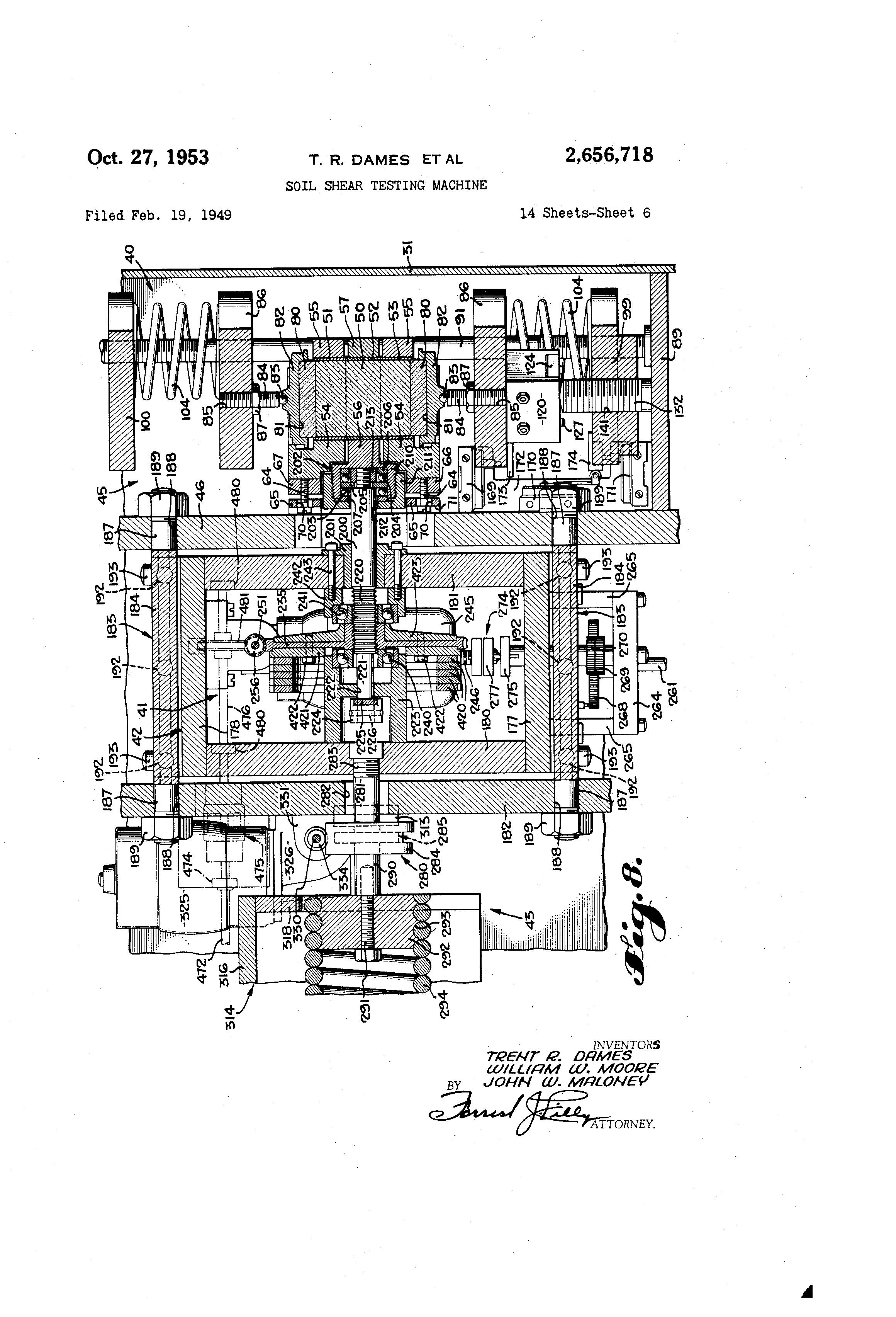 patent us2656718 soil shear testing machine google patents