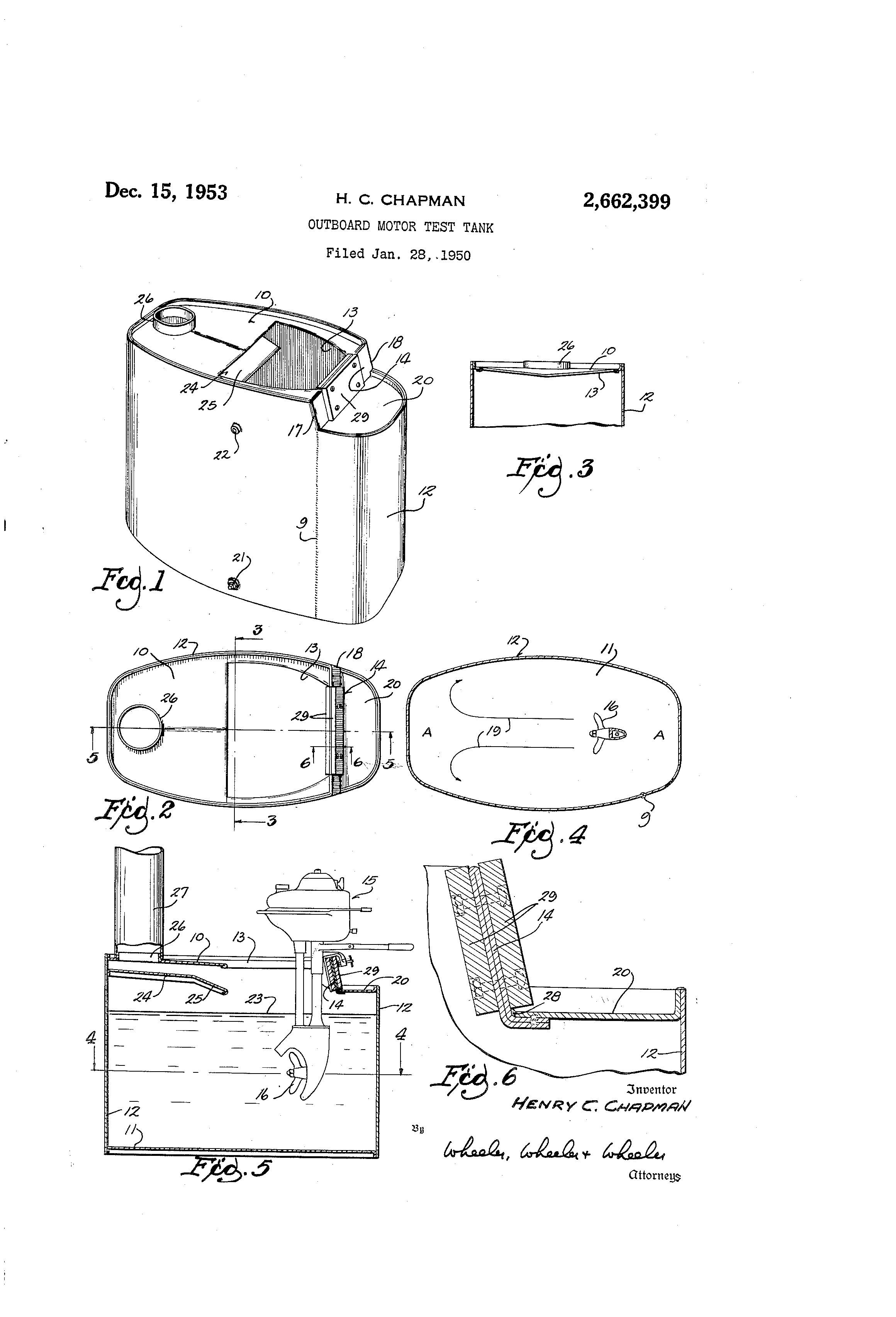 Patent Us2662399 Outboard Motor Test Tank Google Patents