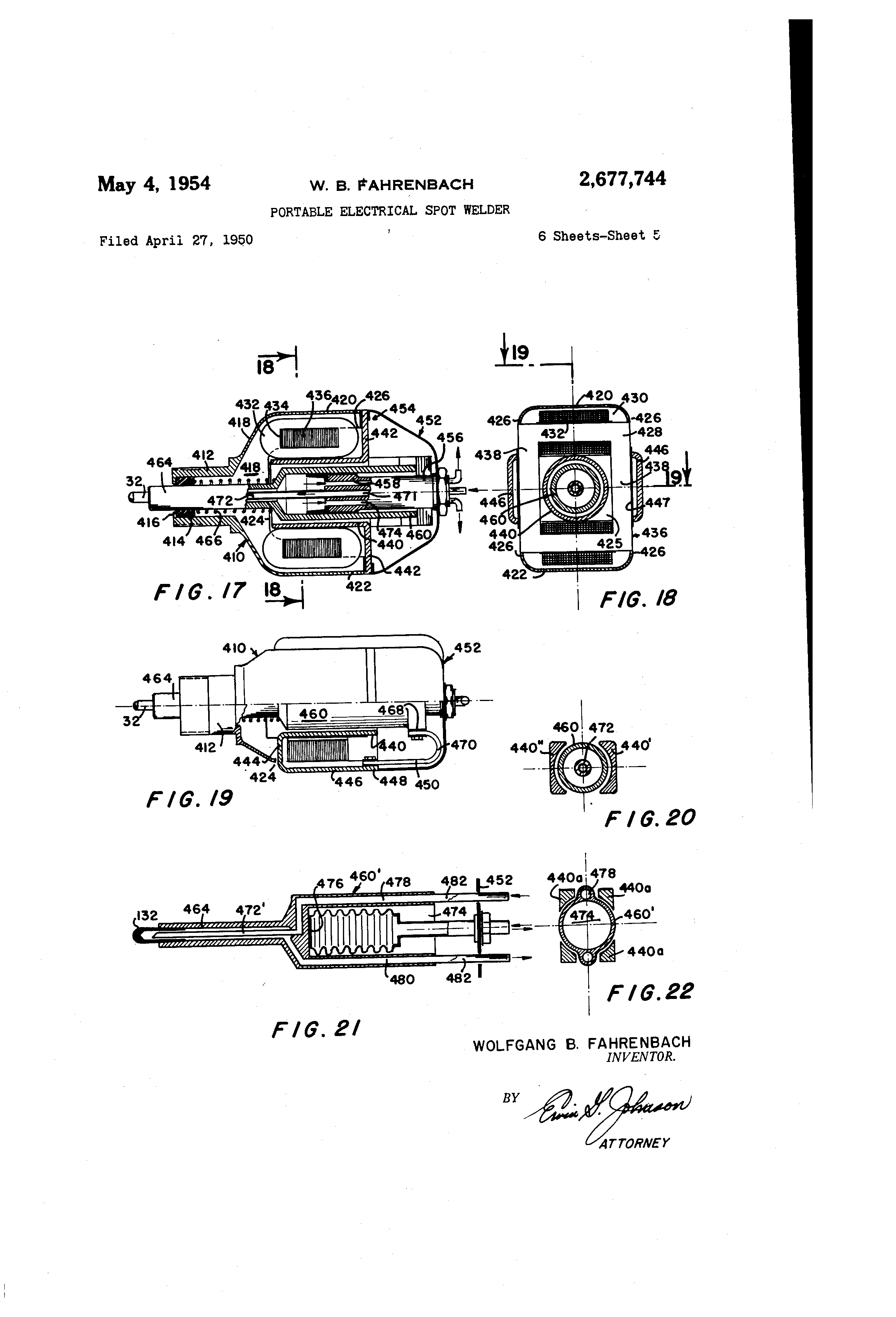 Brevet Us2677744 Portable Electrical Spot Welder Google Brevets Welding Circuit Diagram Patent Drawing