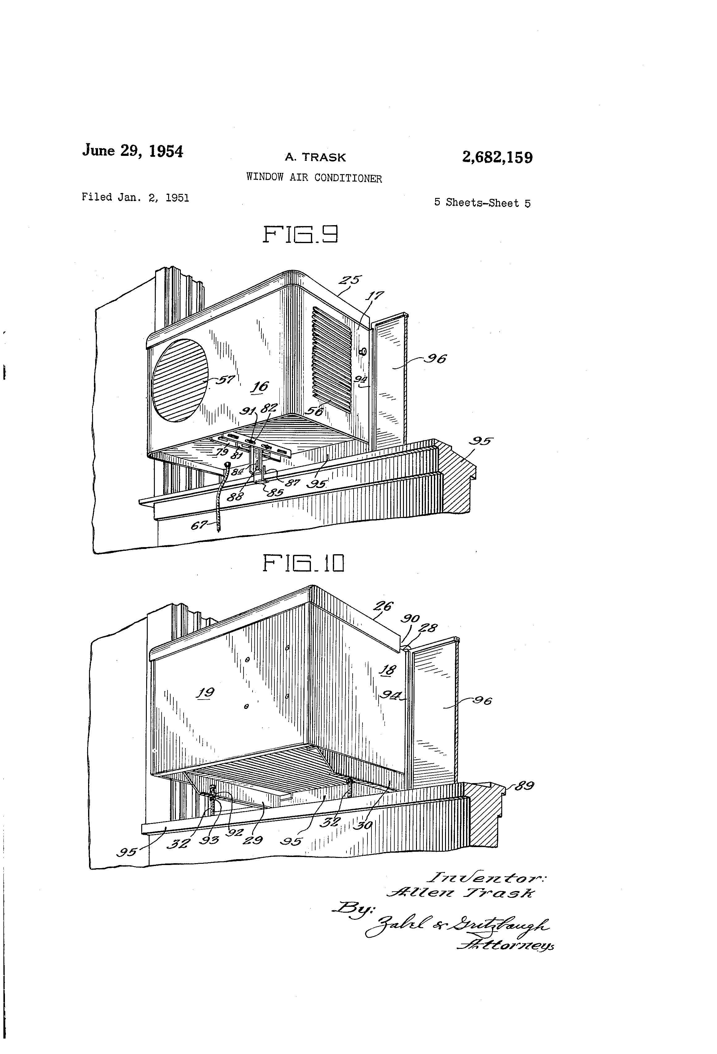 Patent Us2682159 - Window Air Conditioner