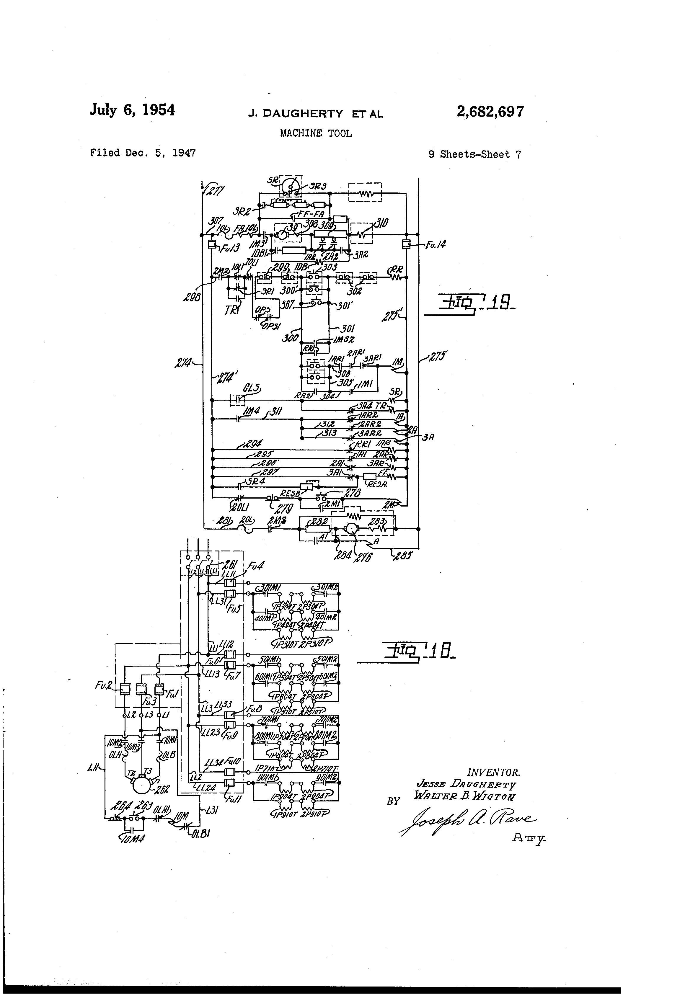 Patent US2682697 Machine tool Google Patents – Imt Wiring Diagram