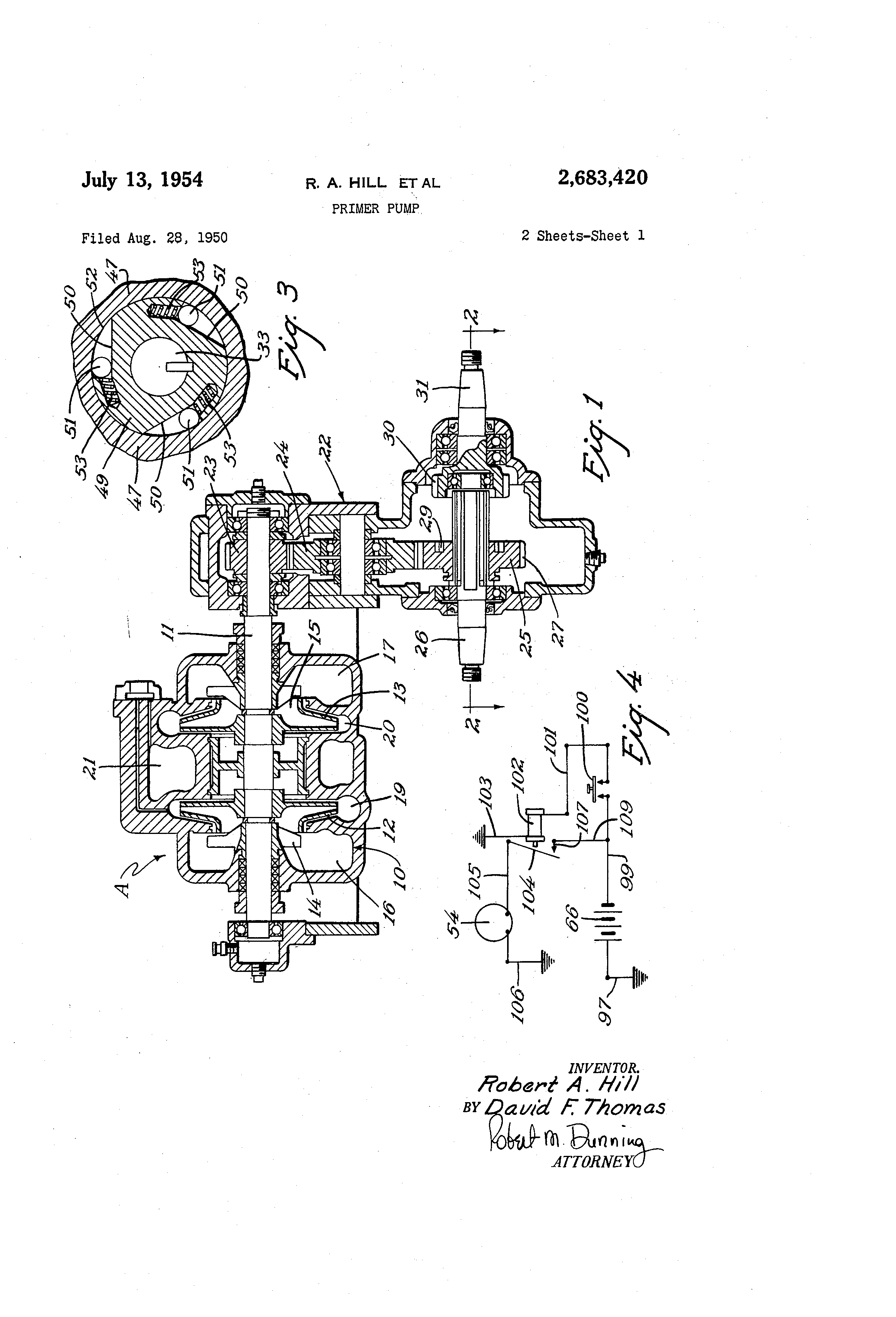 Patent Us2683420 - Primer Pump