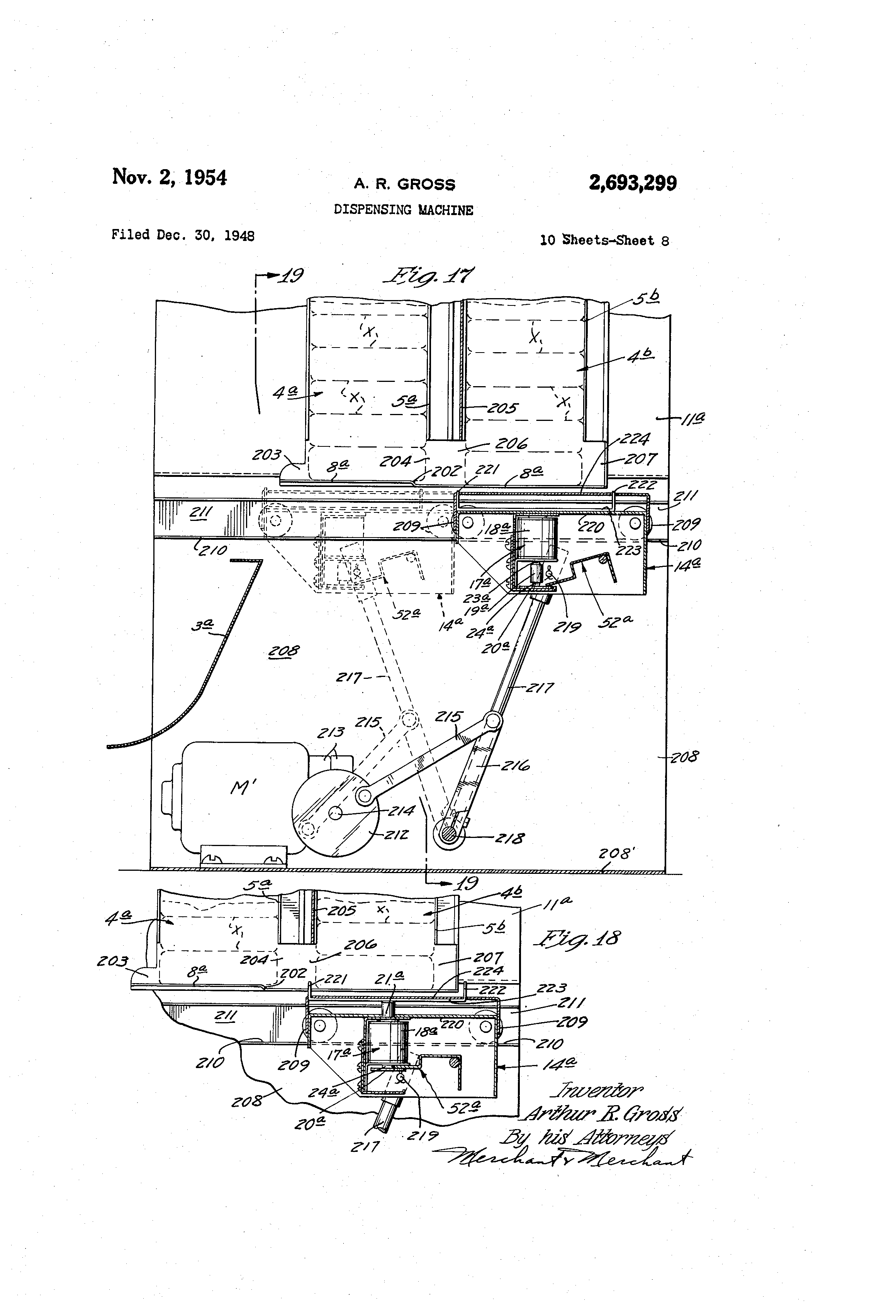 Patent Us2693299 Dispensing Machine Google Patents Vendo 63 Wiring Diagram Drawing