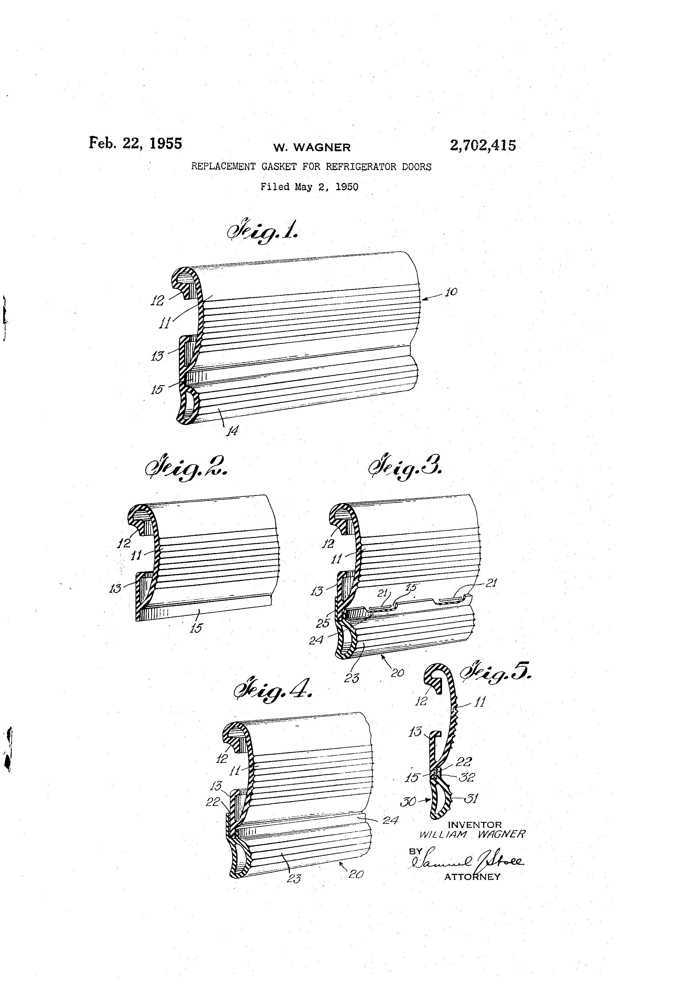 Replace refrigerator door seal - Patent Drawing