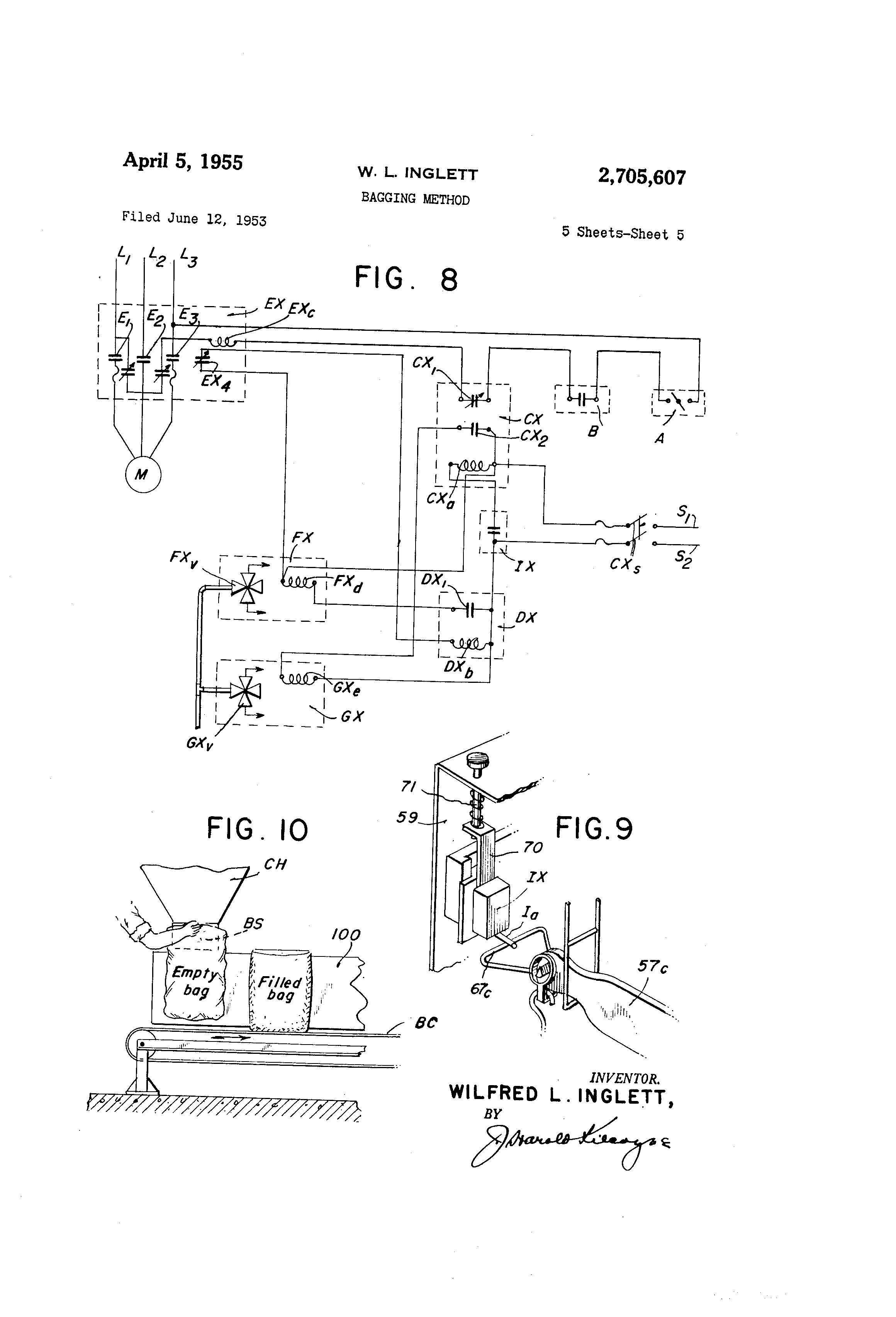 US2705607 4 patent us2705607 bagging method google patents smithco side dump trailer wiring diagram at creativeand.co