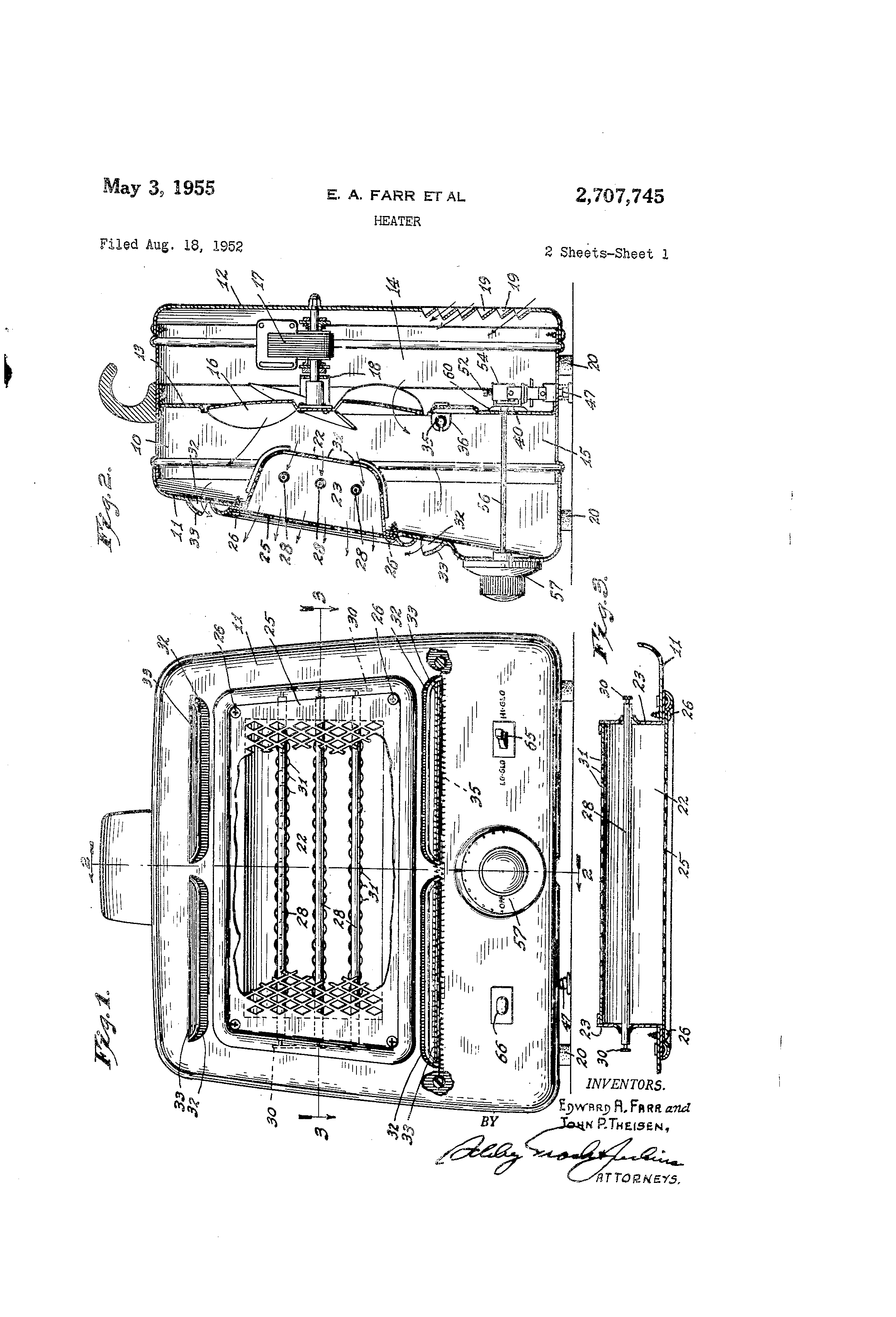 patent us heater patents patent drawing