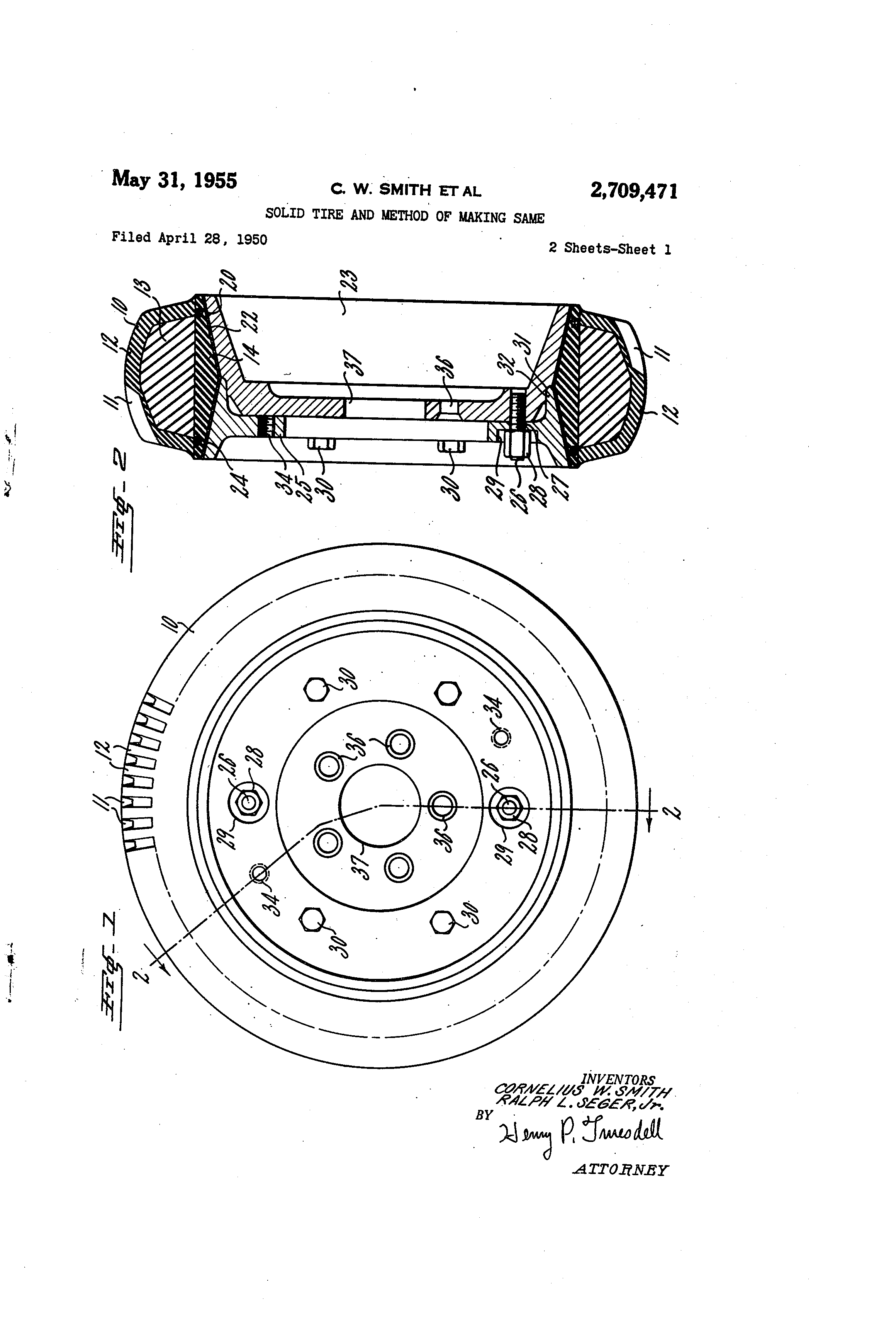 patent us2709471 solid tire and method of making same patents  patent drawing
