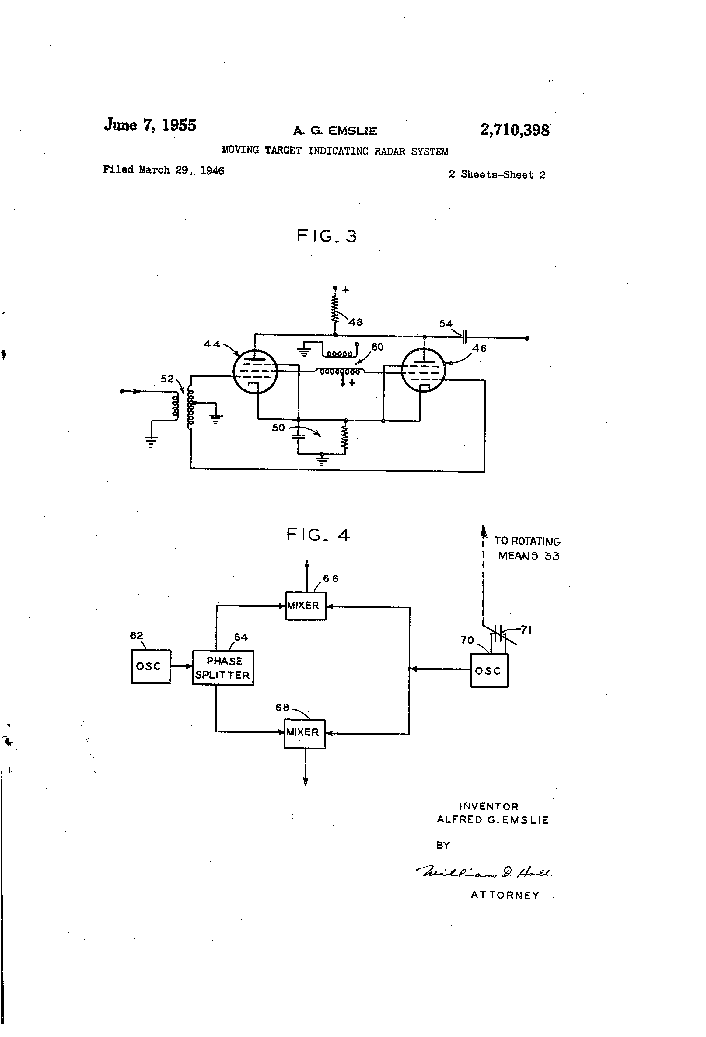 Patent Us2710398 Moving Target Indicating Radar System Google Onetube Transmitter Schematic Diagrams And Circuit Descriptions Drawing